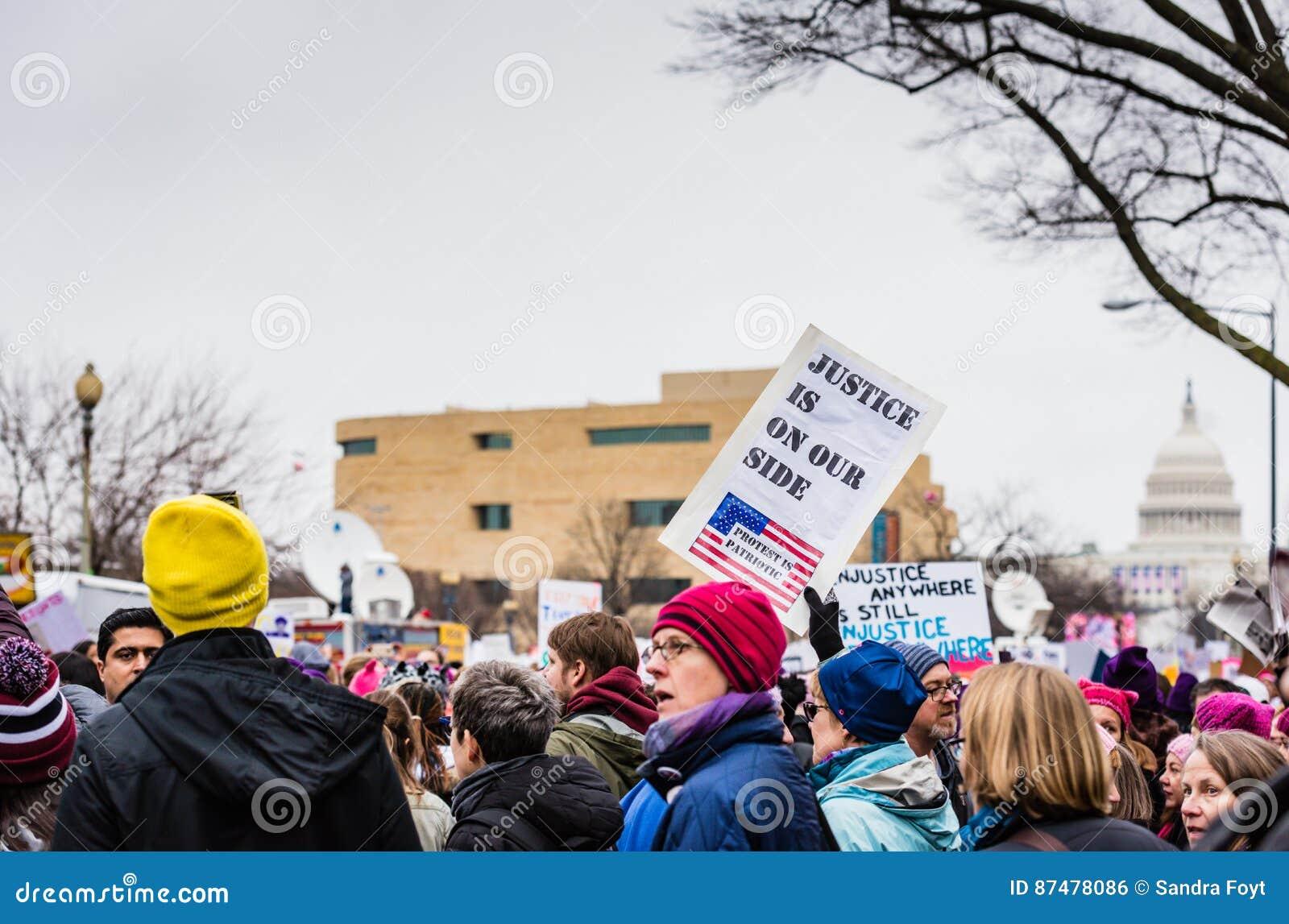 Правосудие - DC в марте - Вашингтоне женщин