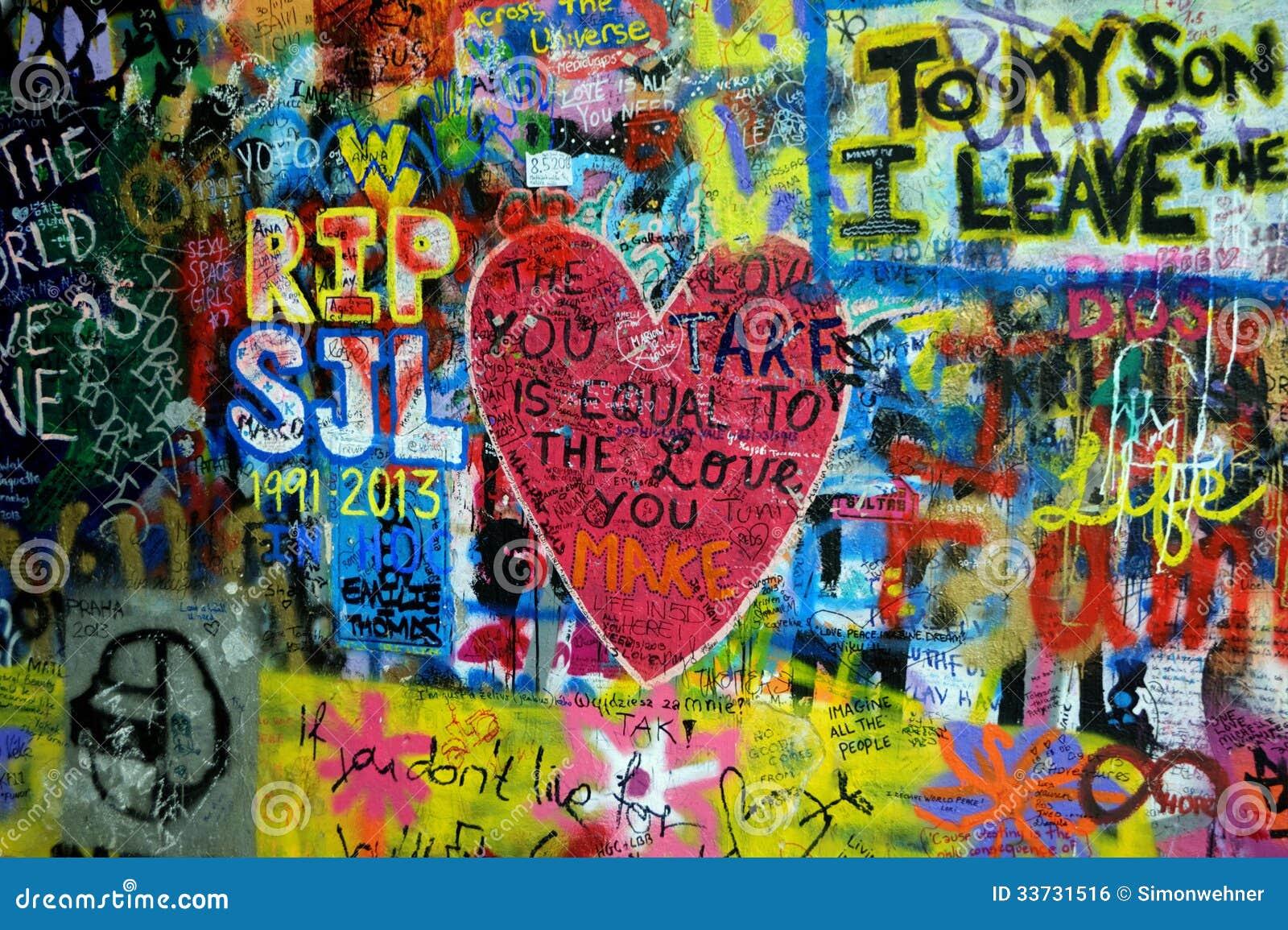 Прага, чехия - стена Джон Леннон