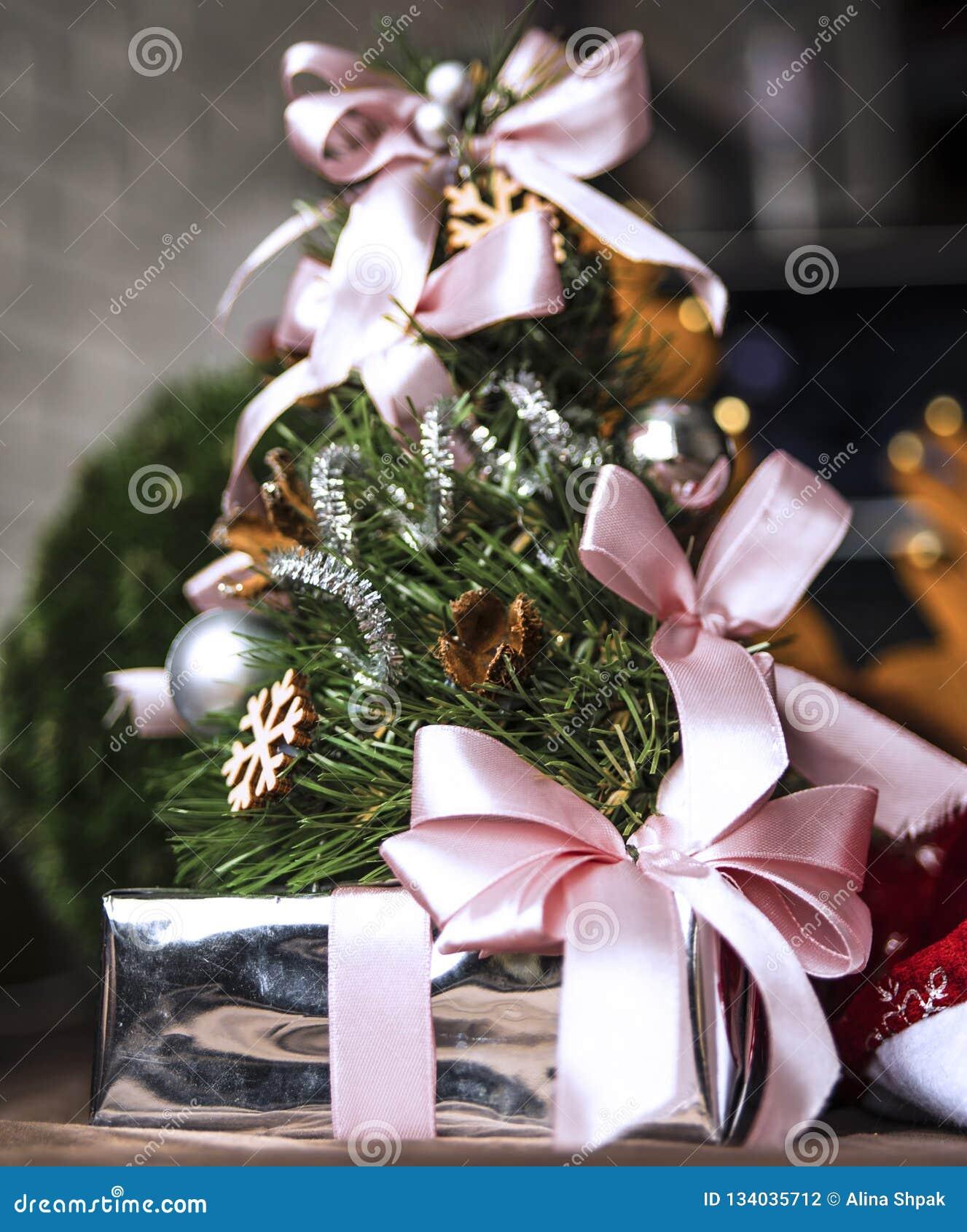 Праздничное фото рождества в домашнем интерьере