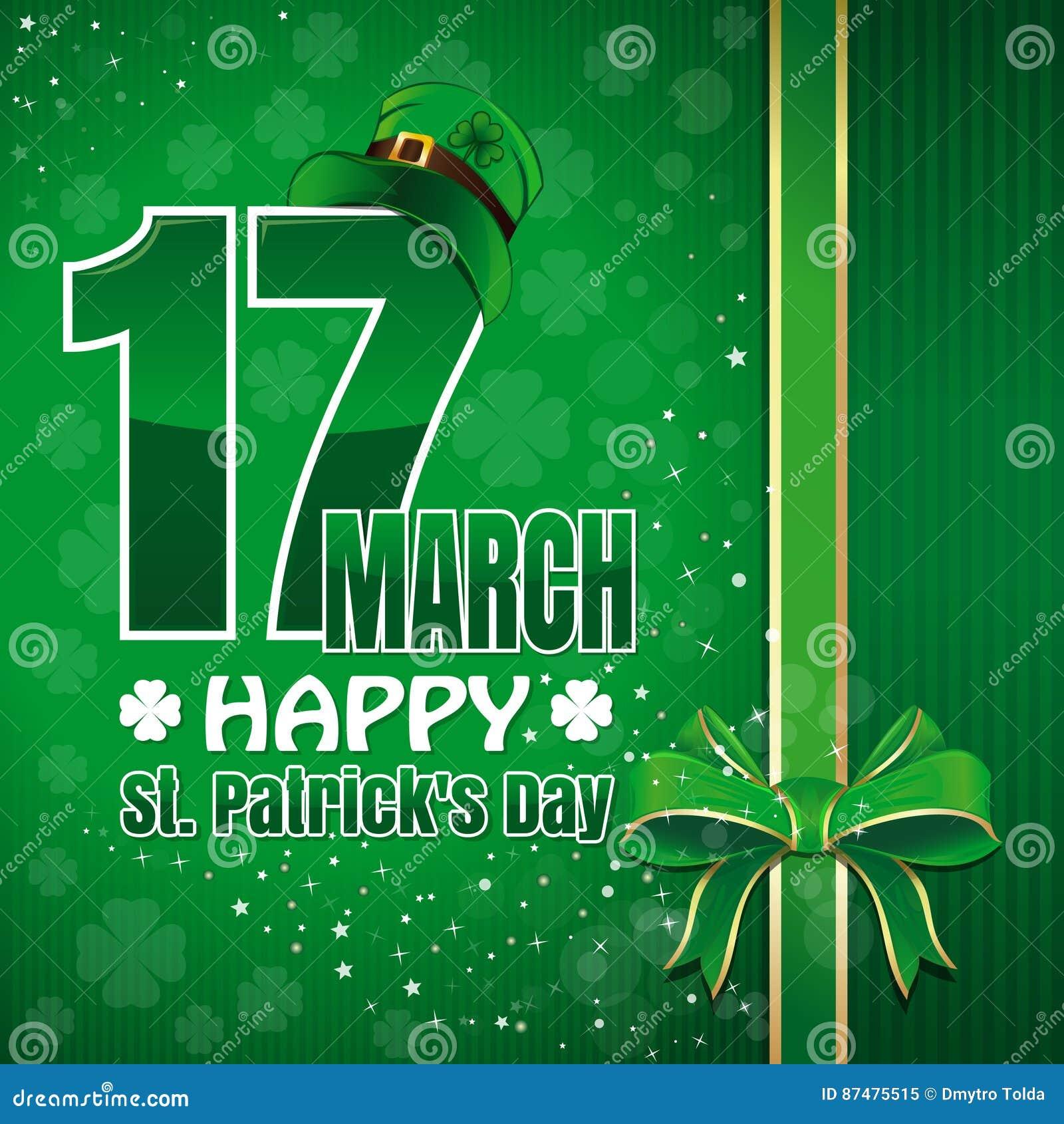 Праздничная зеленая предпосылка к дню St Patricks st patricks дня счастливый 17-ое марта