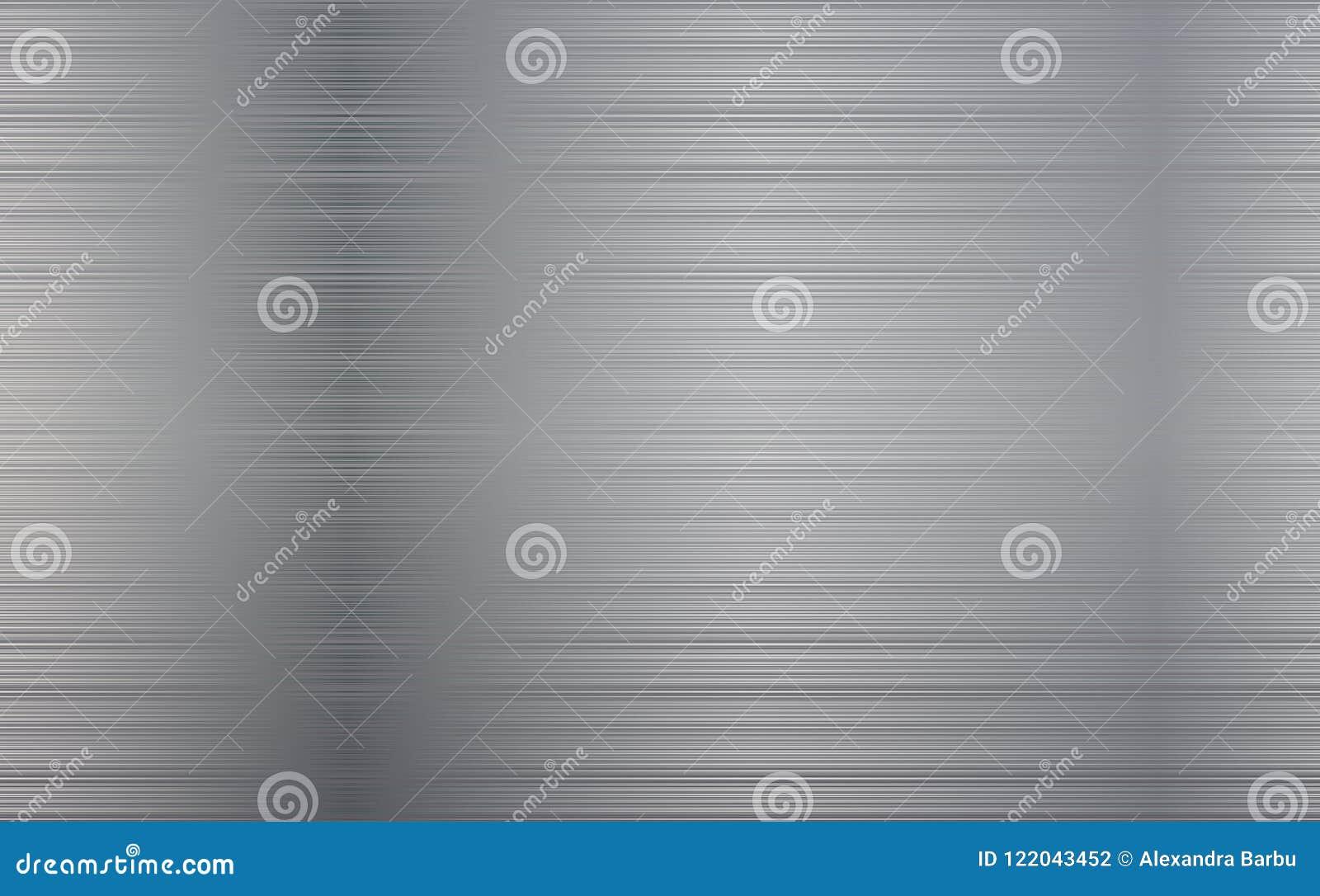 Предпосылка абстрактной технологии металла Отполированная, почищенная щеткой текстура Хром, серебр, сталь, алюминий