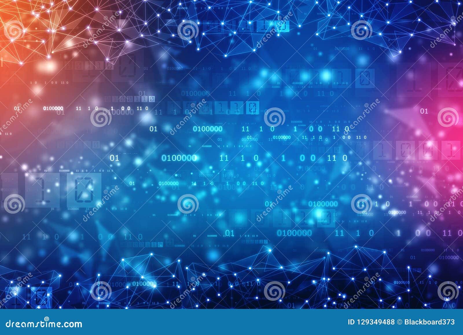 Предпосылка абстрактной технологии цифров, предпосылка космоса кибер, футуристическая предпосылка