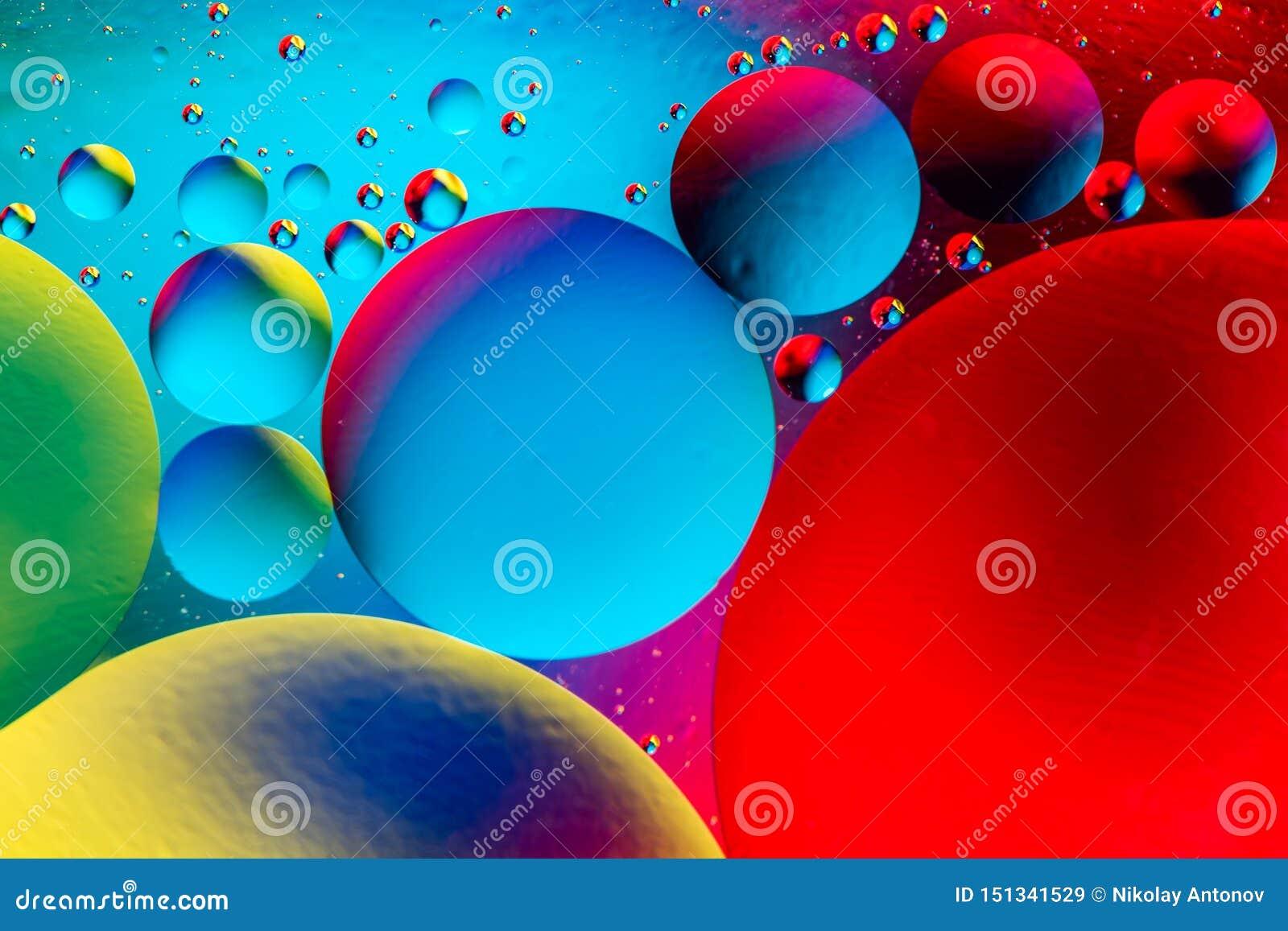 Предпосылка вселенной космоса или планет космическая абстрактная Абстрактное sctructure атома молекулы Пузыри воды Макрос снятый