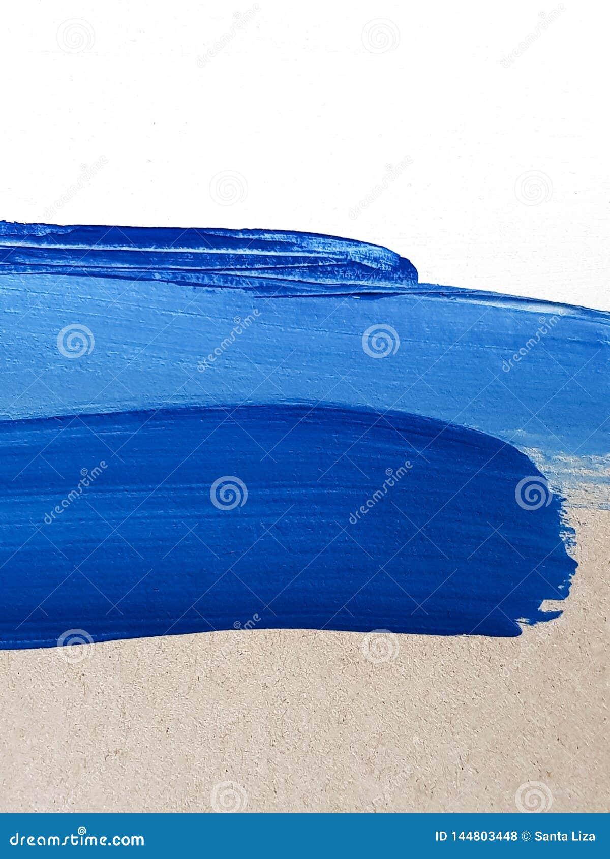 Предпосылка голубого абстрактного искусства цветов крася Ландшафт природы Современное художественное произведение