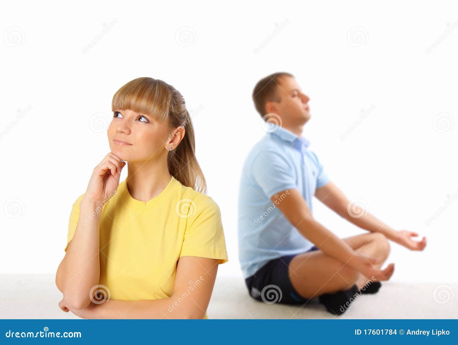предпосылка делая детенышей йоги женщины человека