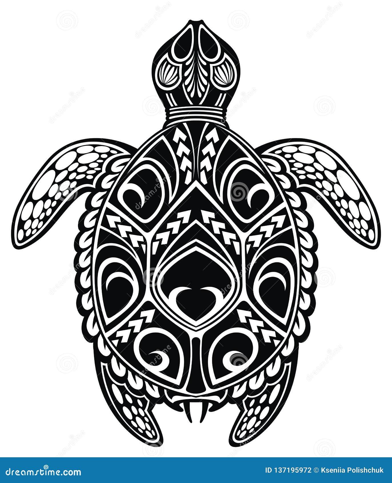 Предпосылка дизайна примечания музыки Морская черепаха вектора illustrationGraphic