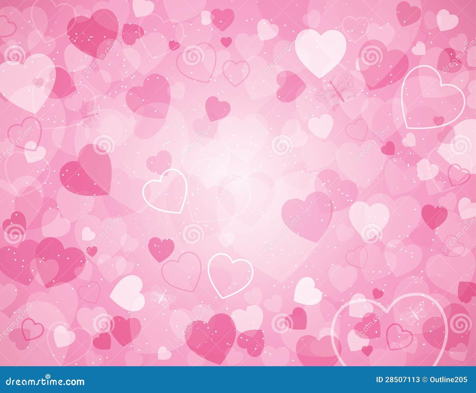 Предпосылка дня Валентайн с сердцами