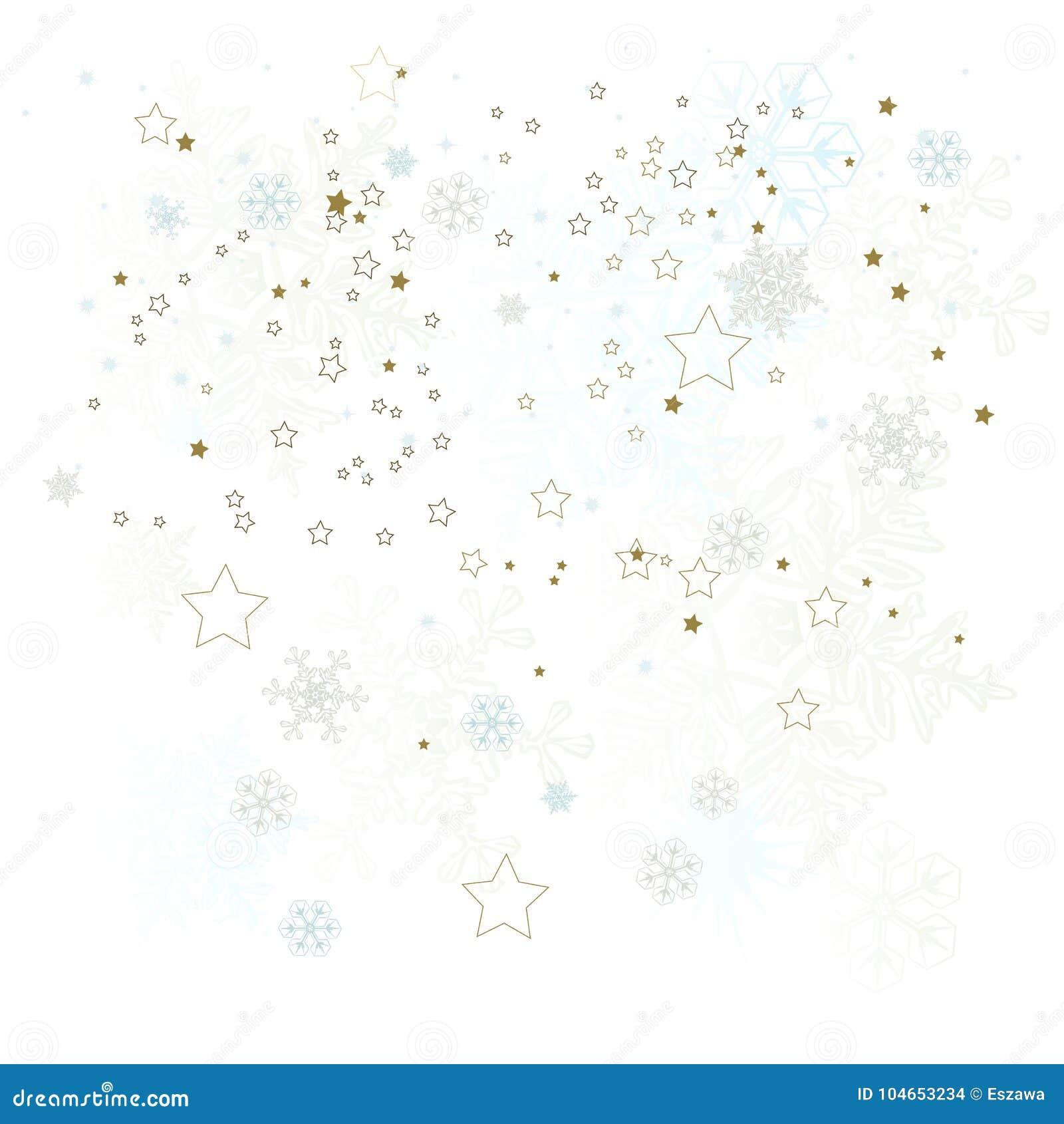 Предпосылка зимы, снежинки - иллюстрация вектора