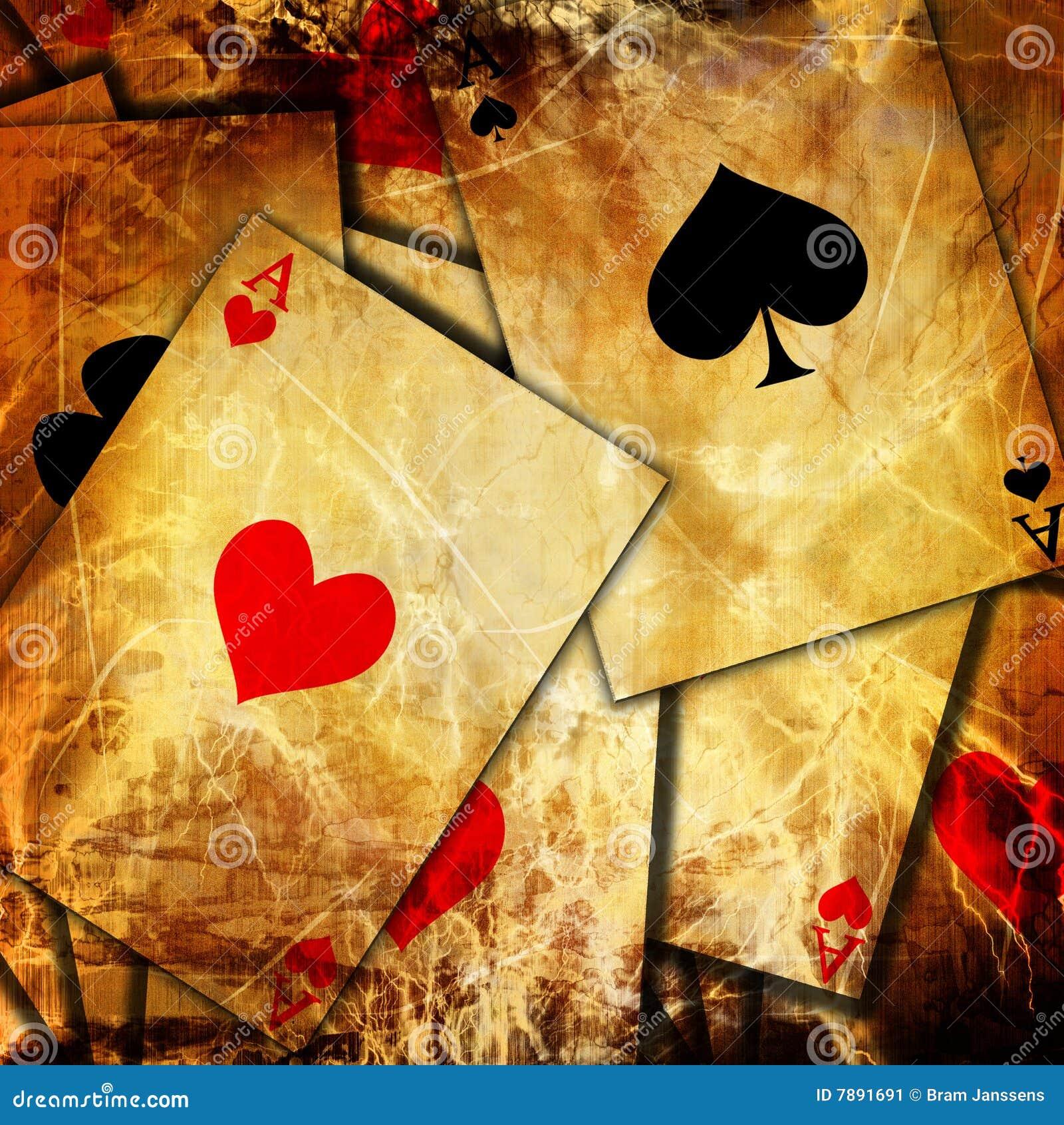 Предпосылка играя карточек