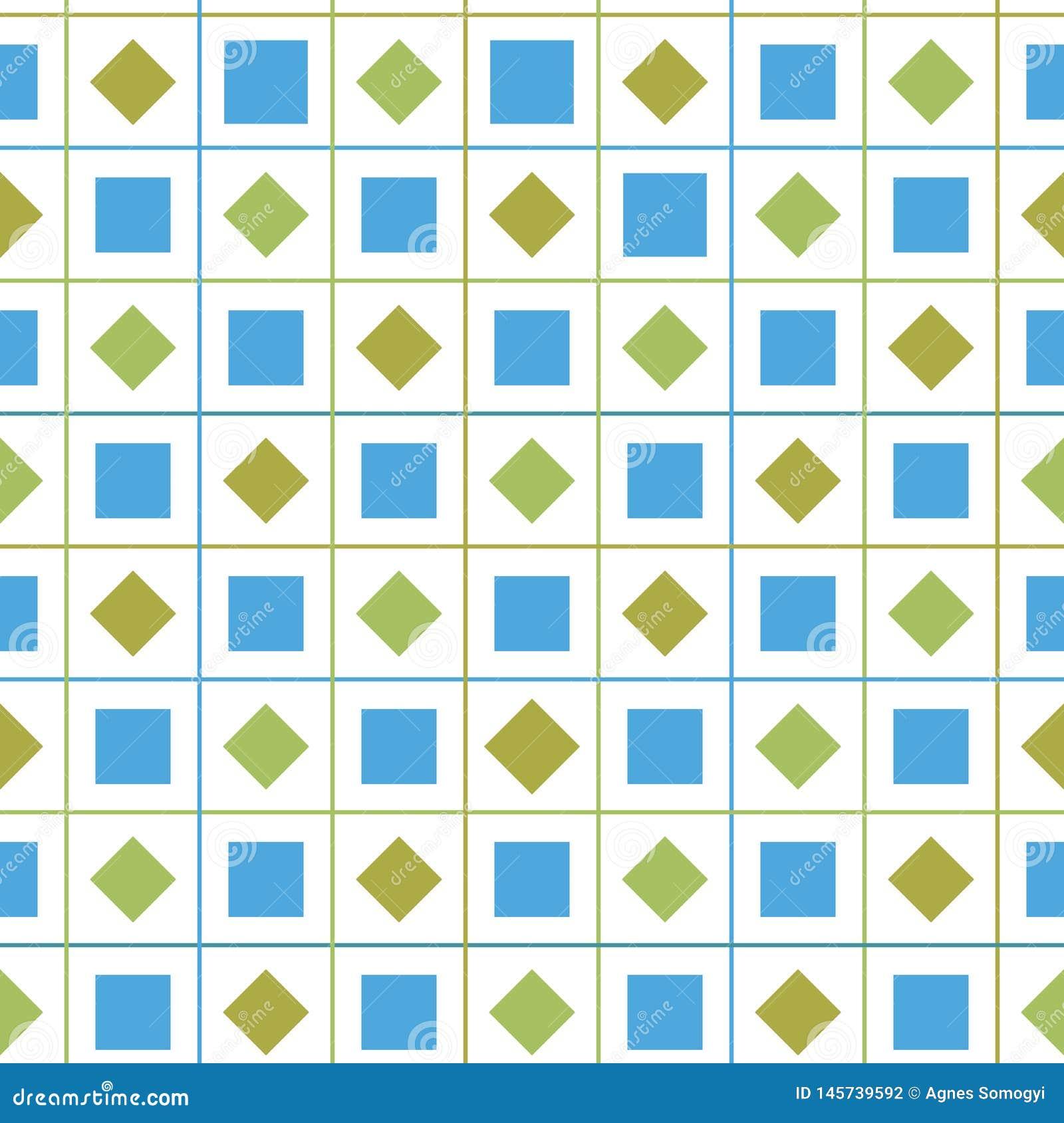 Предпосылка картины вектора проверки конспекта красочная безшовная геометрическая с диамантом и квадратные формы для ткани