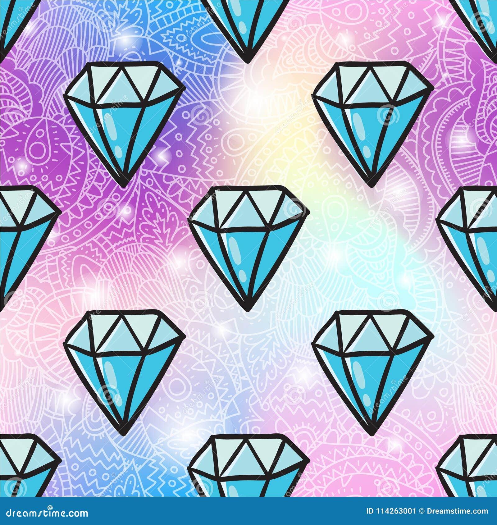 Предпосылка картины диаманта безшовная