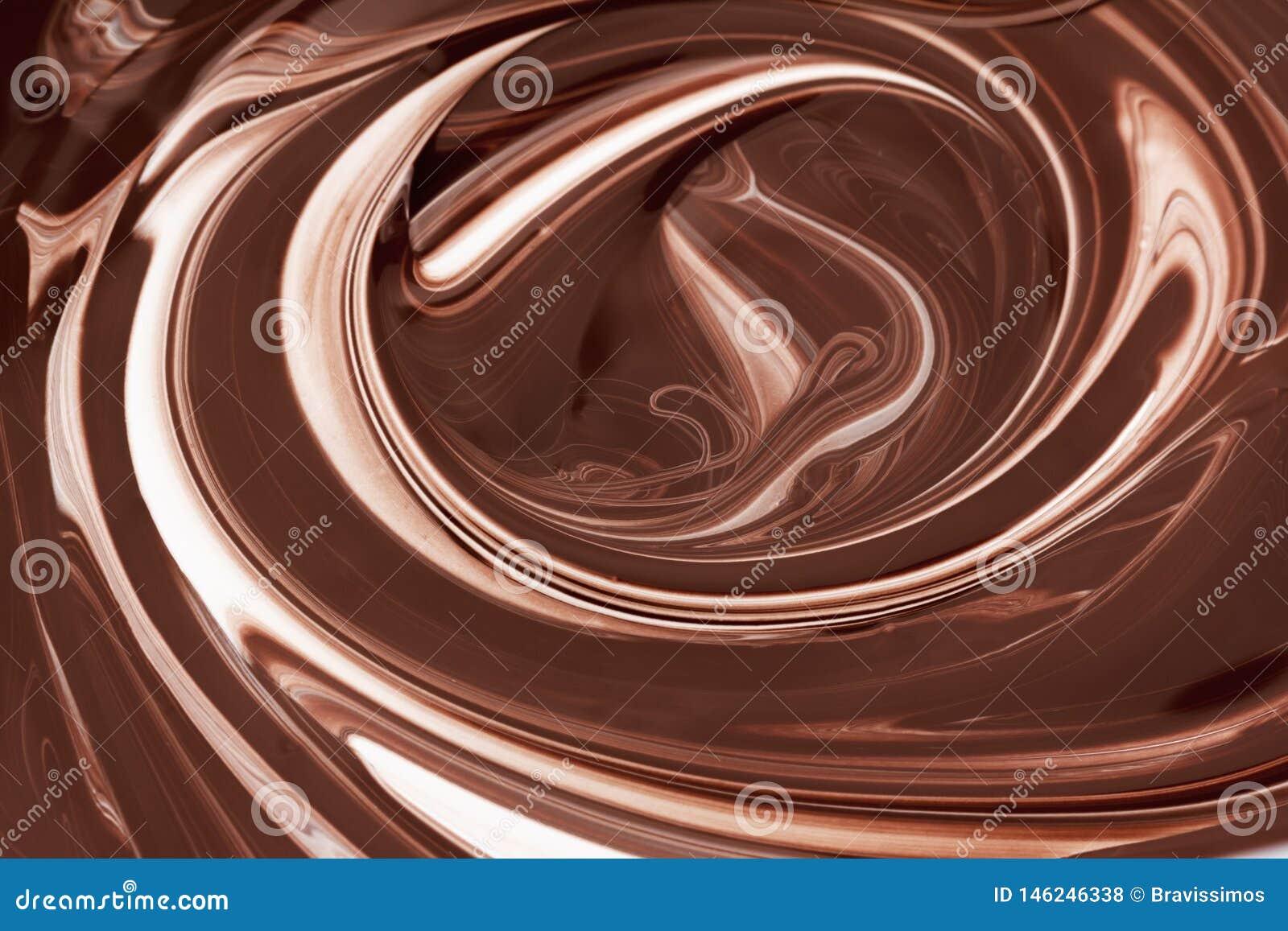 Предпосылка конспекта горячего шоколада коричневая, жидкостный