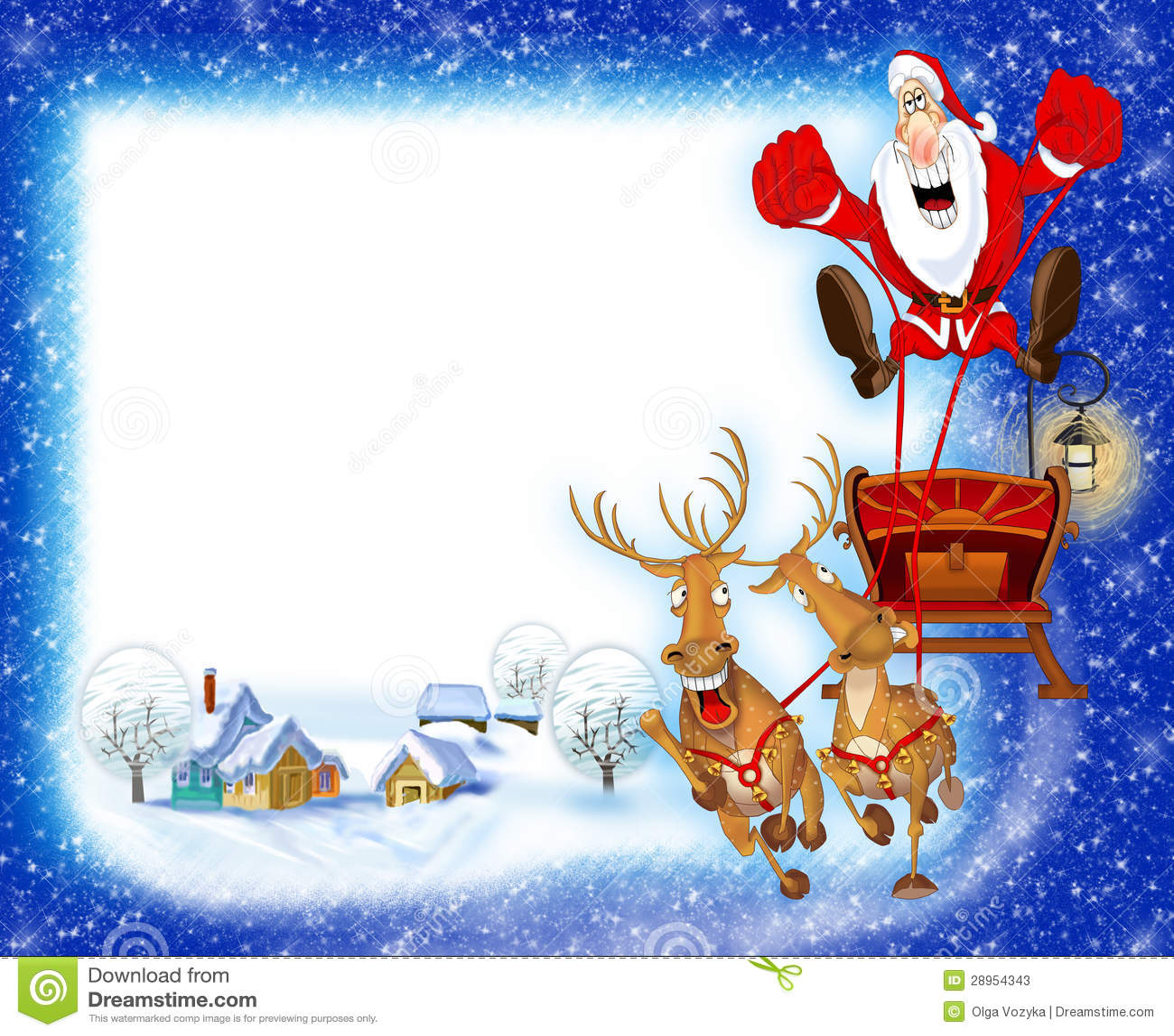Предпосылка Кристмас с Дед Мороз