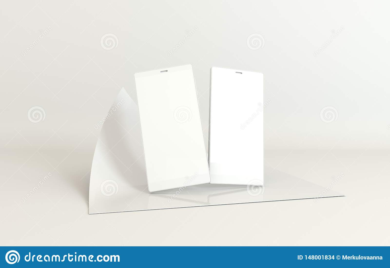 Предпосылка модель-макета смартфона в современном минимальном стиле Frameless мобильный телефон 3d представить в пастельных цвета