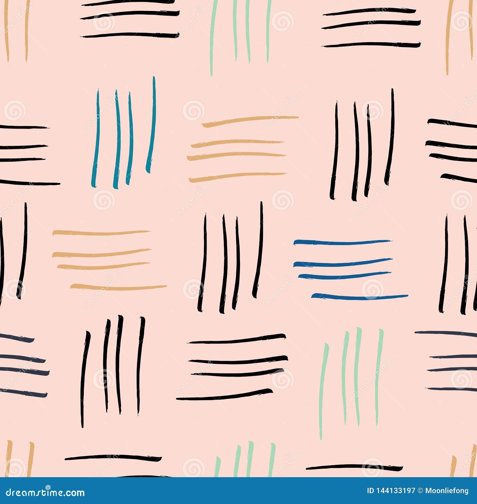 Предпосылка печати картины абстрактных нашивок watercolour розовая безшовная