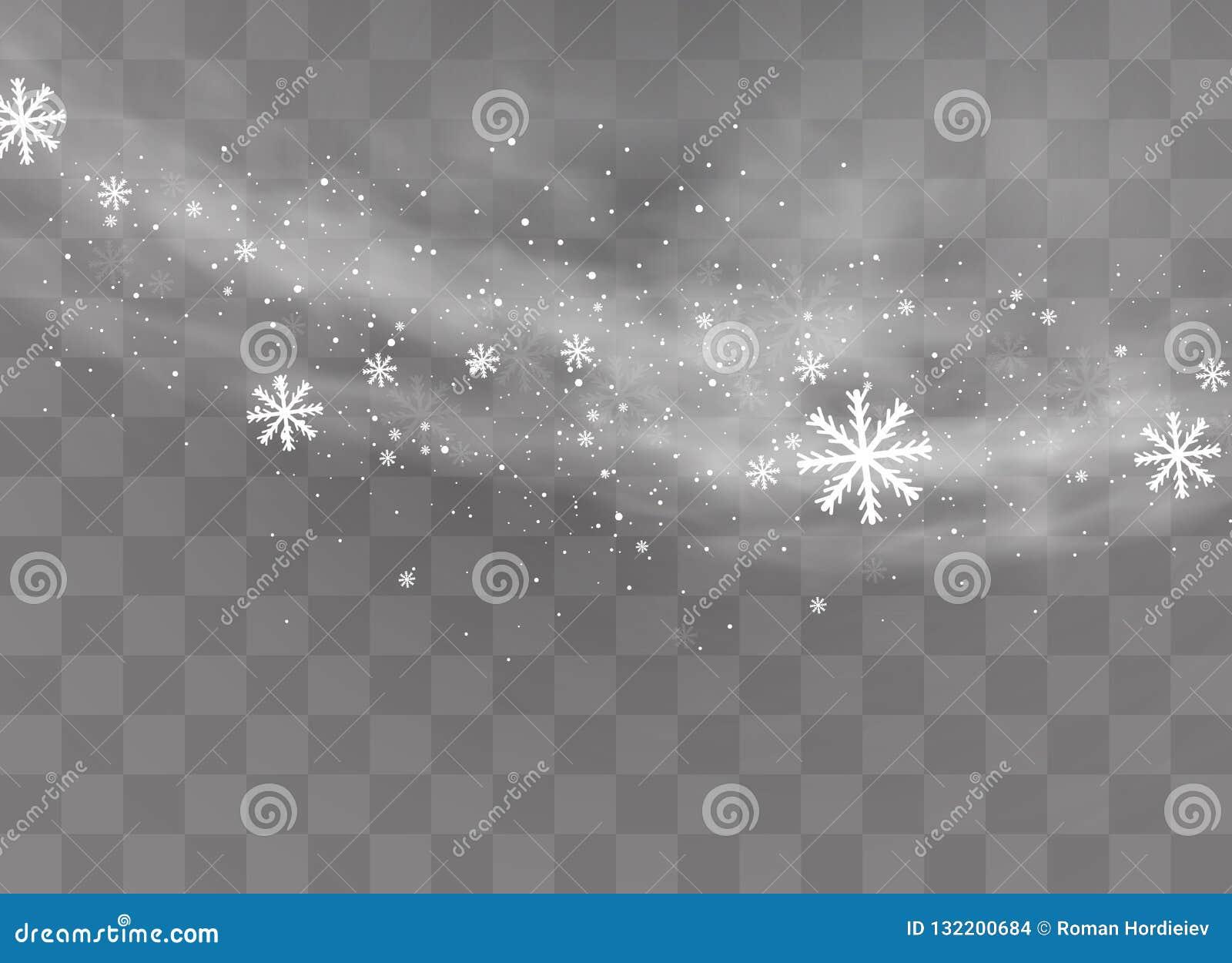 Предпосылка снега прозрачная