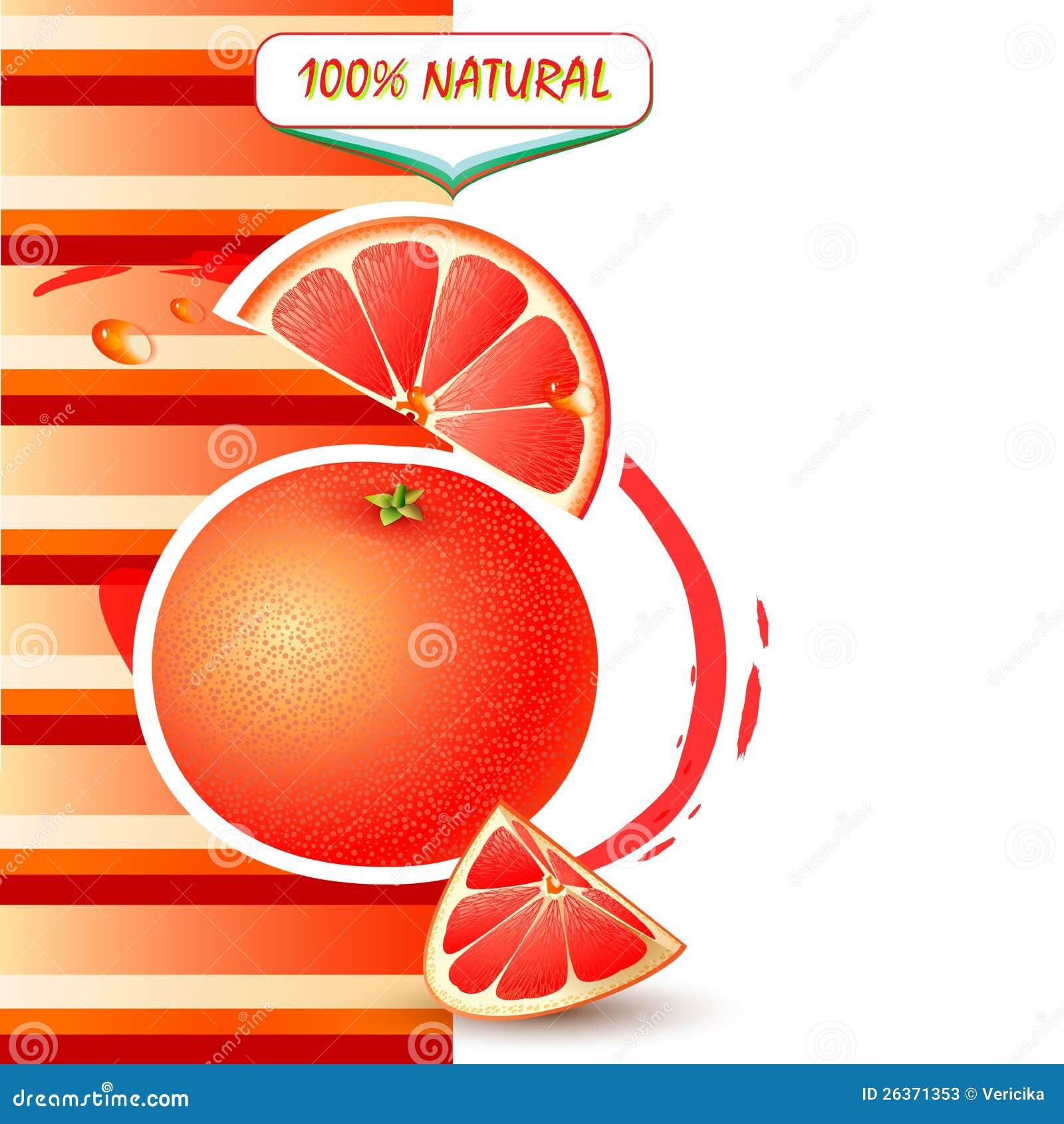 Предпосылка с свежим грейпфрутом