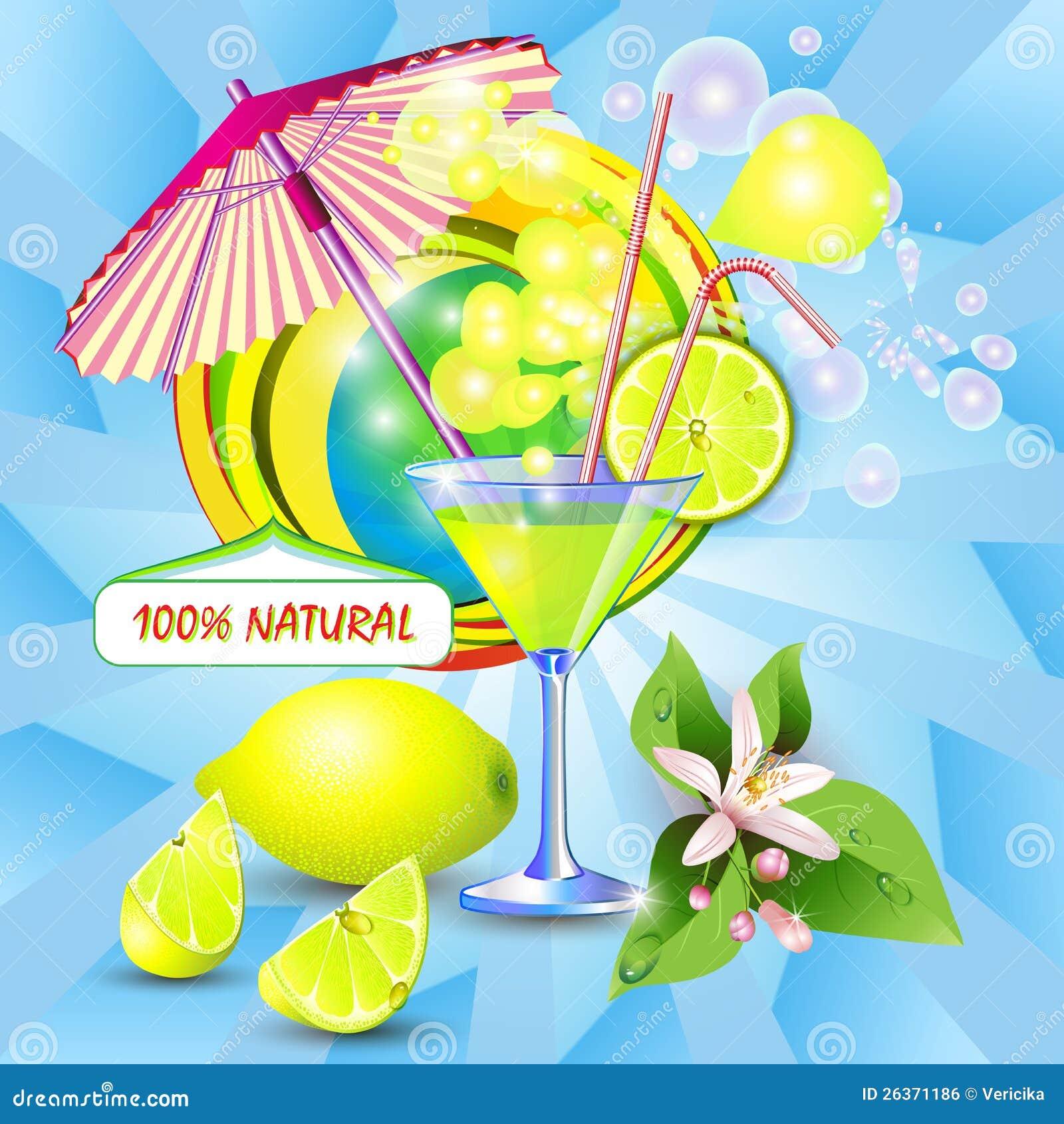 Предпосылка с свежим соком лимона