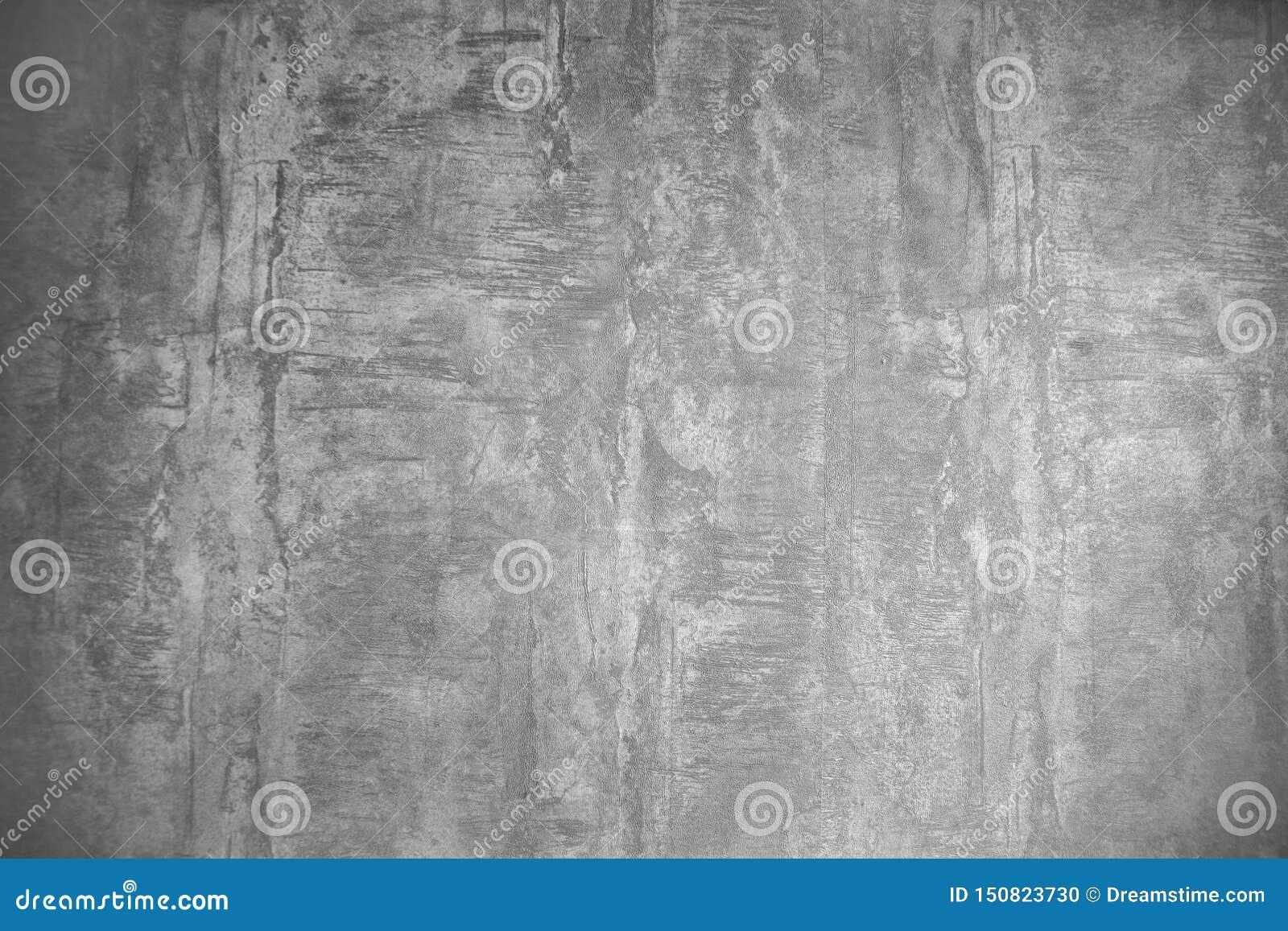 Предпосылка текстуры обоев Grunge серая, дизайн интерьера
