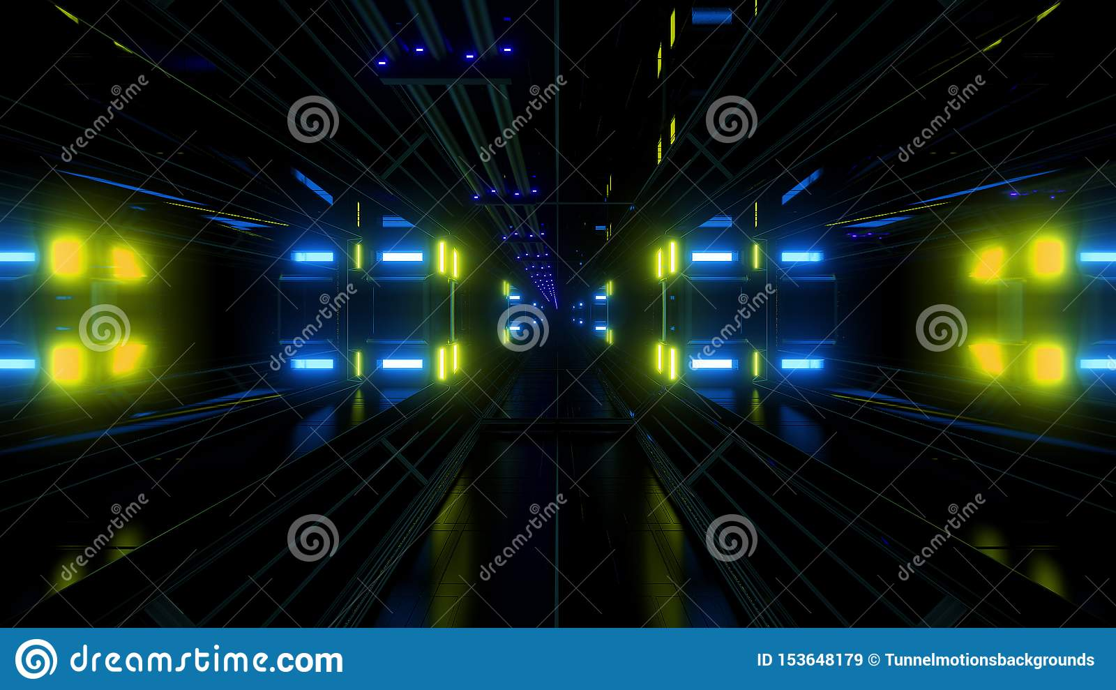Предпосылка тоннеля ангара космоса научной фантастики Futuritstic