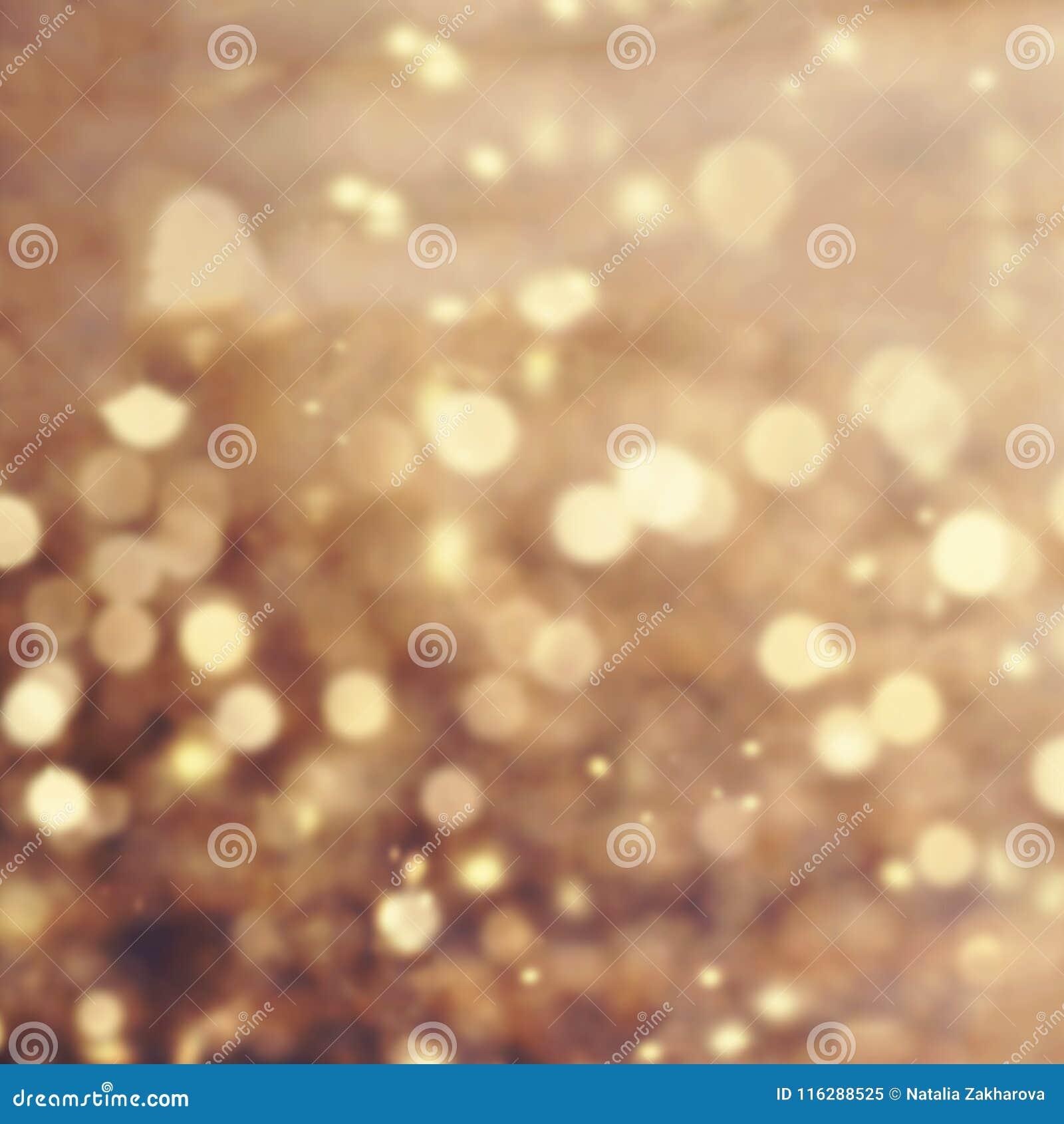 Предпосылка феи рождества золота праздничная Конспект мерцал brigh