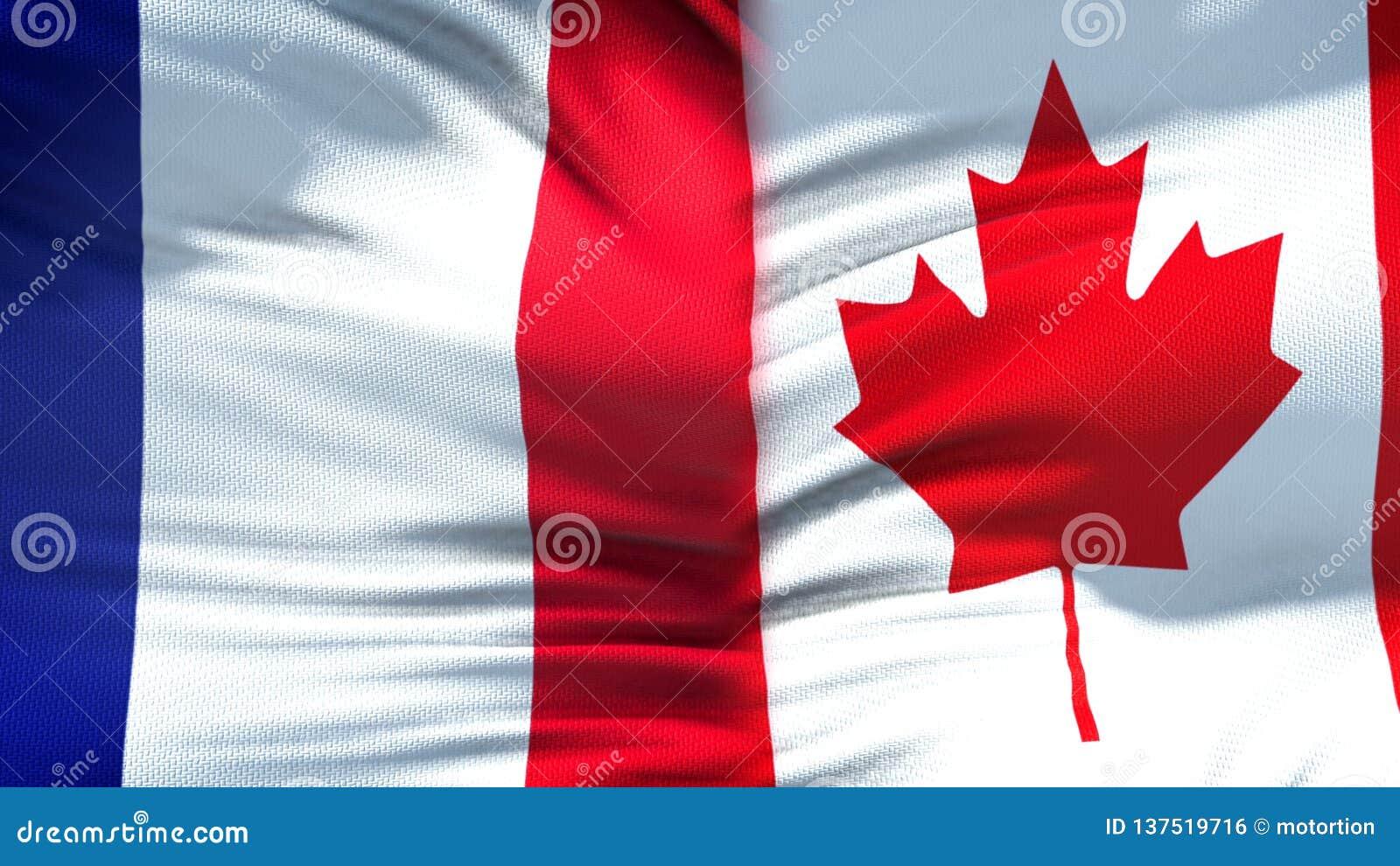 Предпосылка флагов Франции и Канады, дипломатический и экономические отношения, финансы