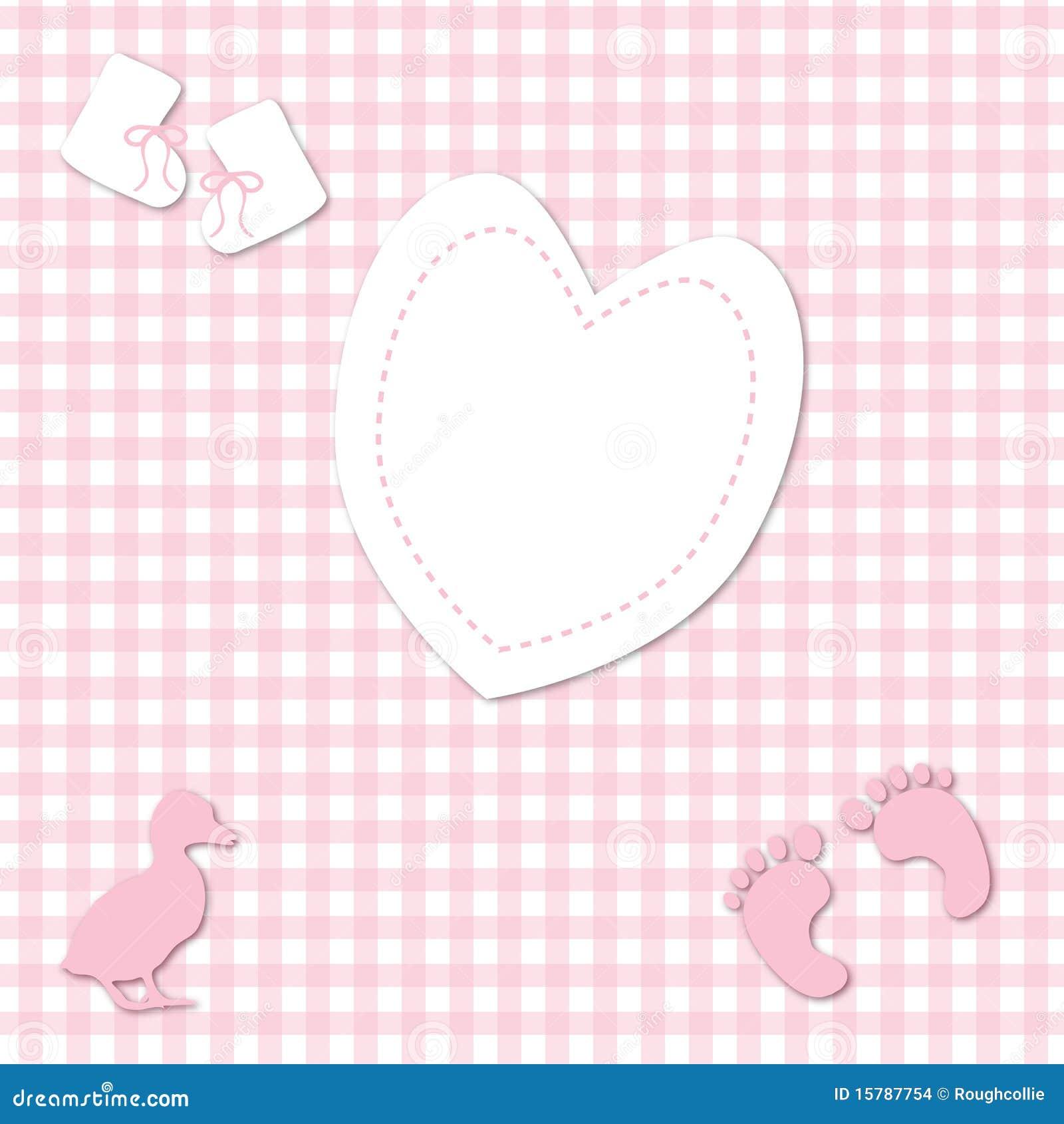 Предпосылка холстинки ребёнка розовая