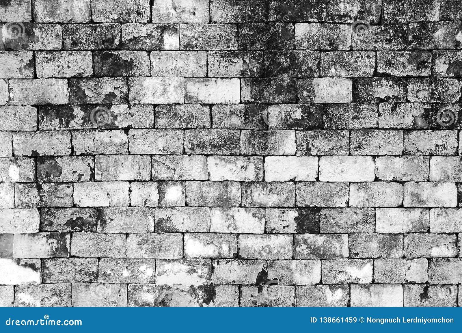 Предпосылка цвета краски кирпича grunge стены черно-белая Кирпич грязных, пыли старой стены красный, текстура фона и брызнуть бел