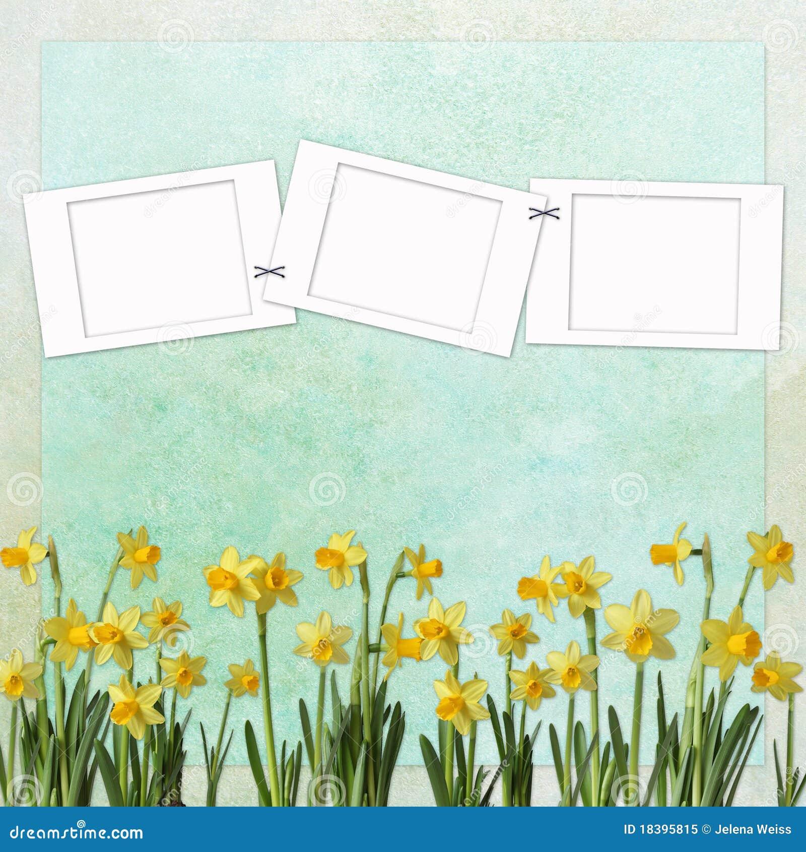 предпосылка цветет весна рамки