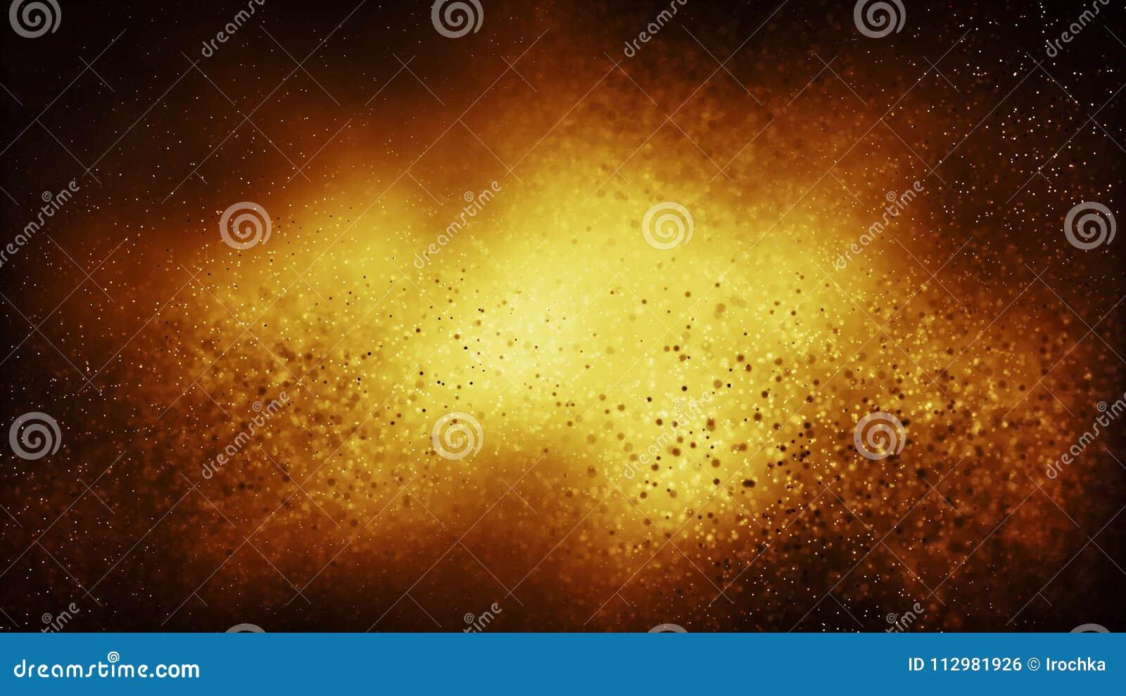 Предпосылка частицы безшовная на концепции золота праздничной