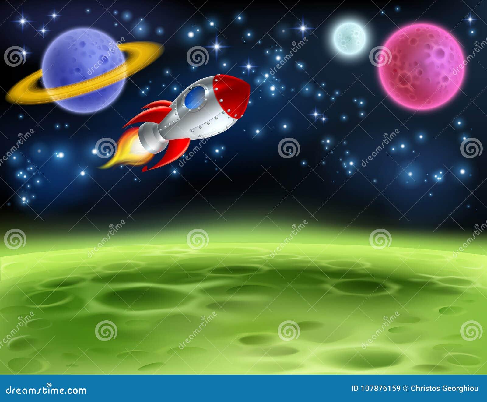Предпосылка шаржа планеты космического пространства