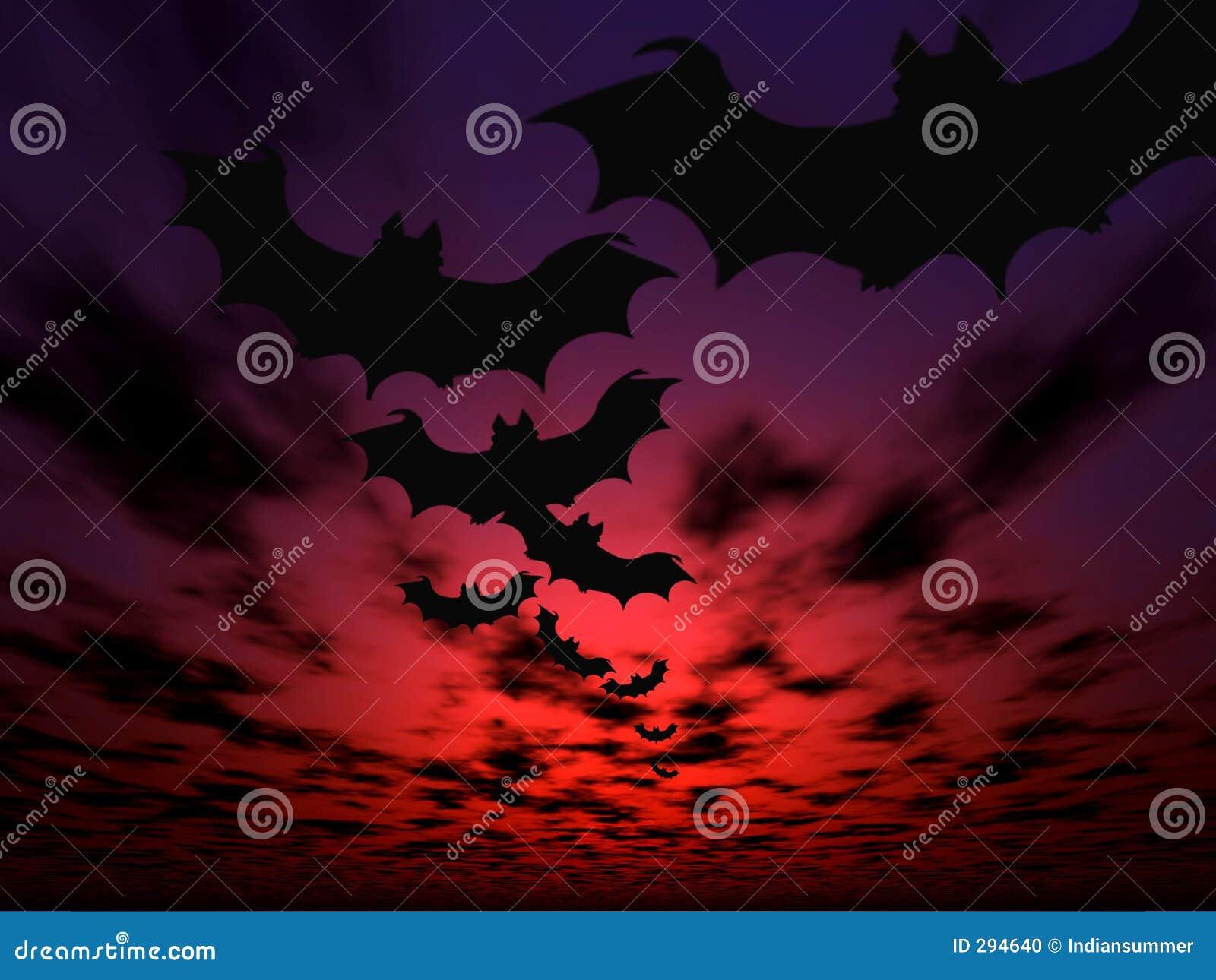 предпосылка bats halloween летая