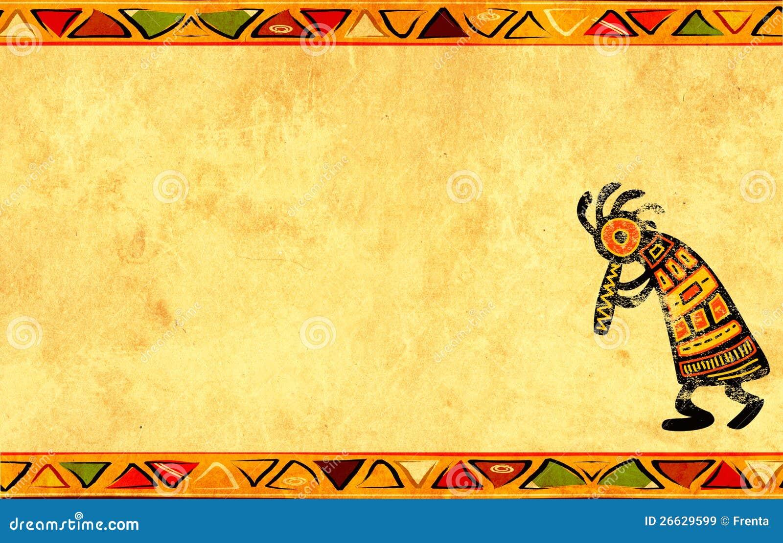Предпосылка Grunge с африканскими картинами