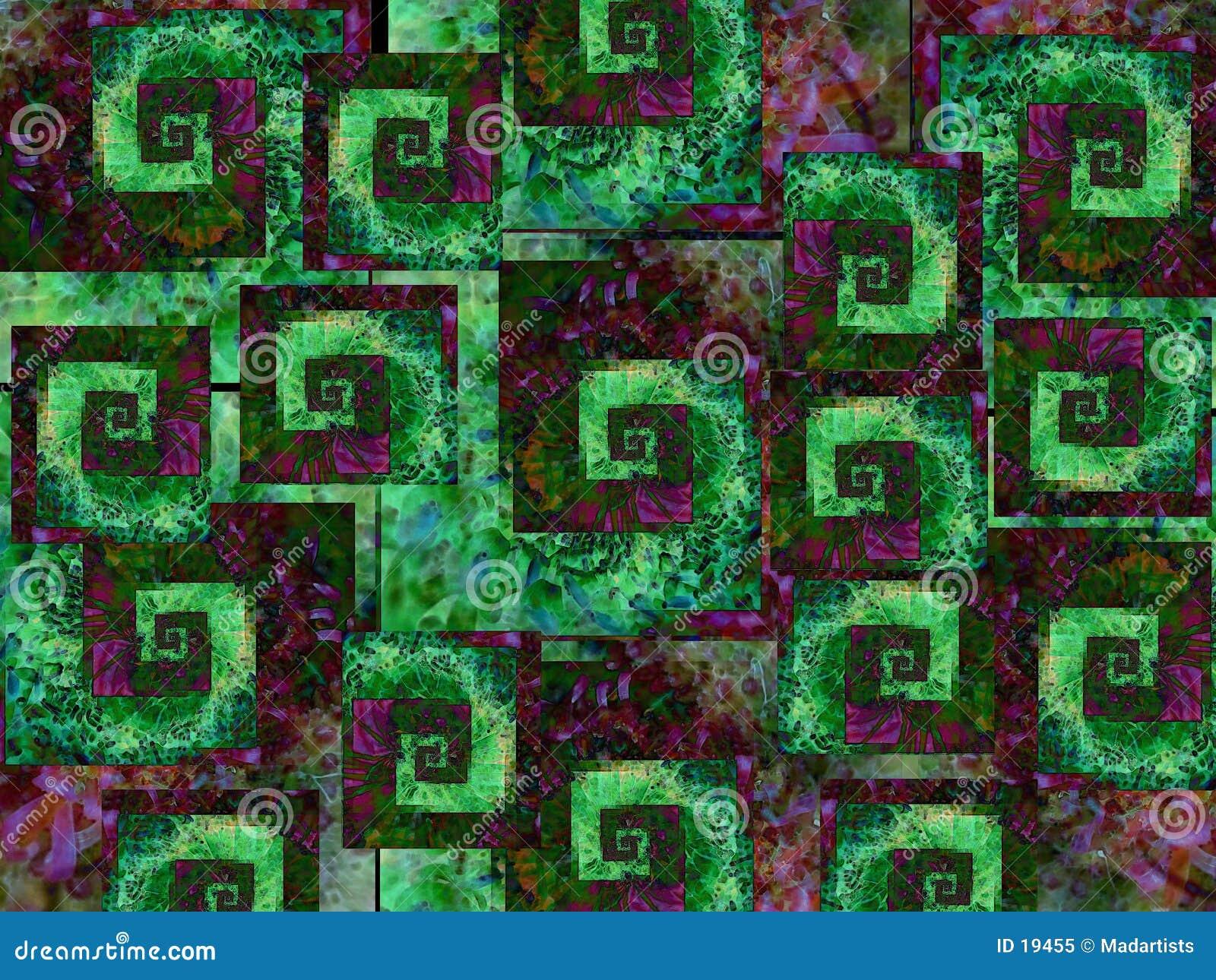 предпосылки охлаждают зеленый пурпур