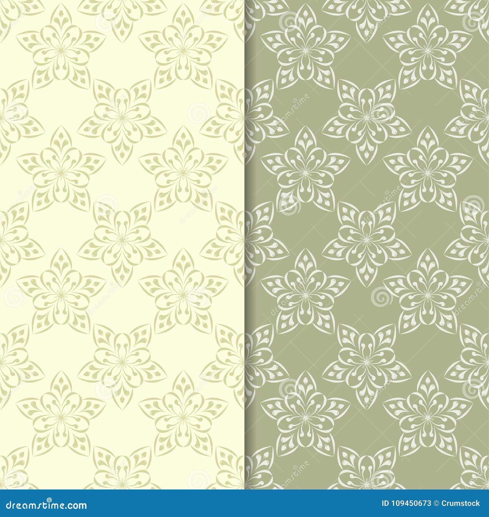 Предпосылки прованского зеленого цвета флористические делает по образцу безшовный комплект