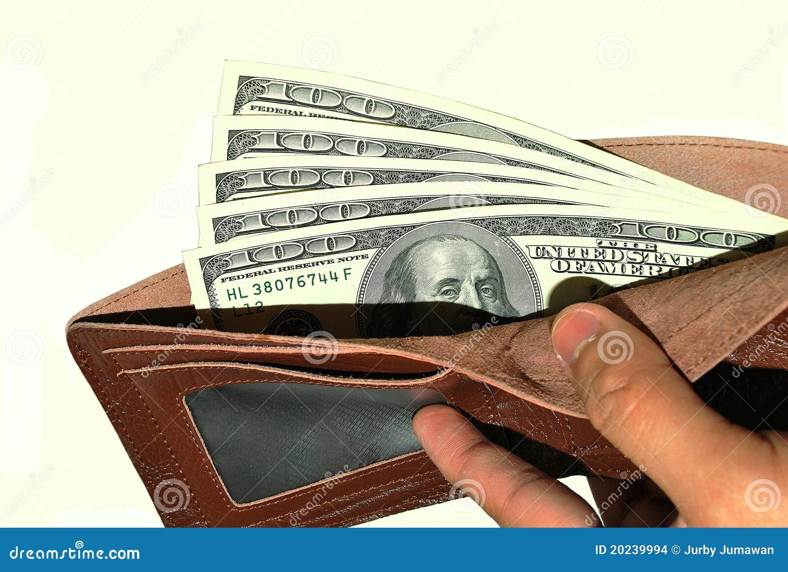 представляет счет доллар 100 мы бумажник