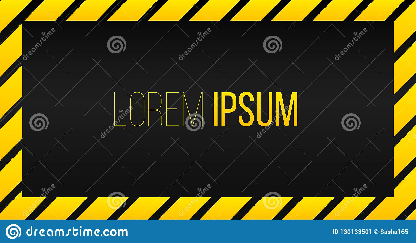предупреждая желтая черная предпосылка шаблона рамки нашивки с космосом для текста, тента желтого, рамки рамки знамени striped на