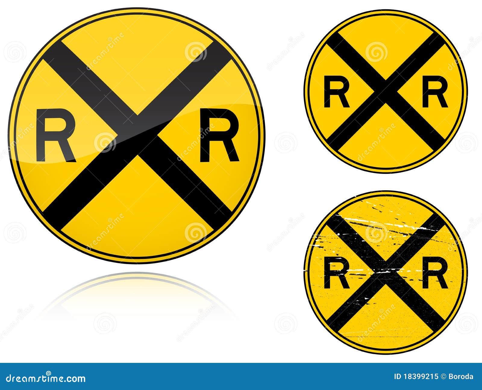 предупреждение вариантов дорожного знака уровня скрещивания