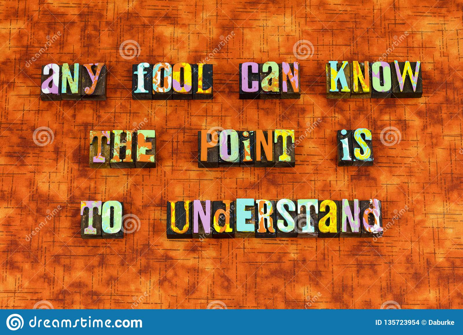 Премудрость дурака мудрая понять учит letterpress