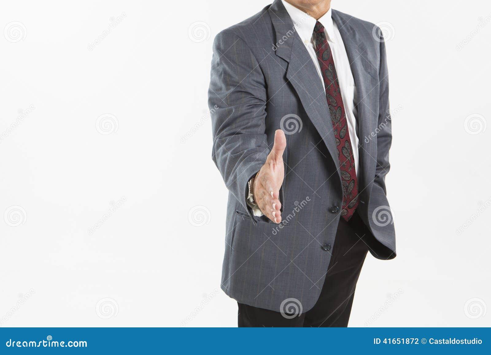 предлагать рукопожатия бизнесмена