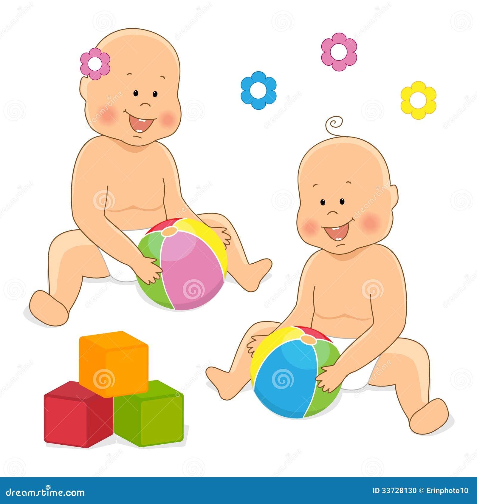 Прелестный младенец играя 2