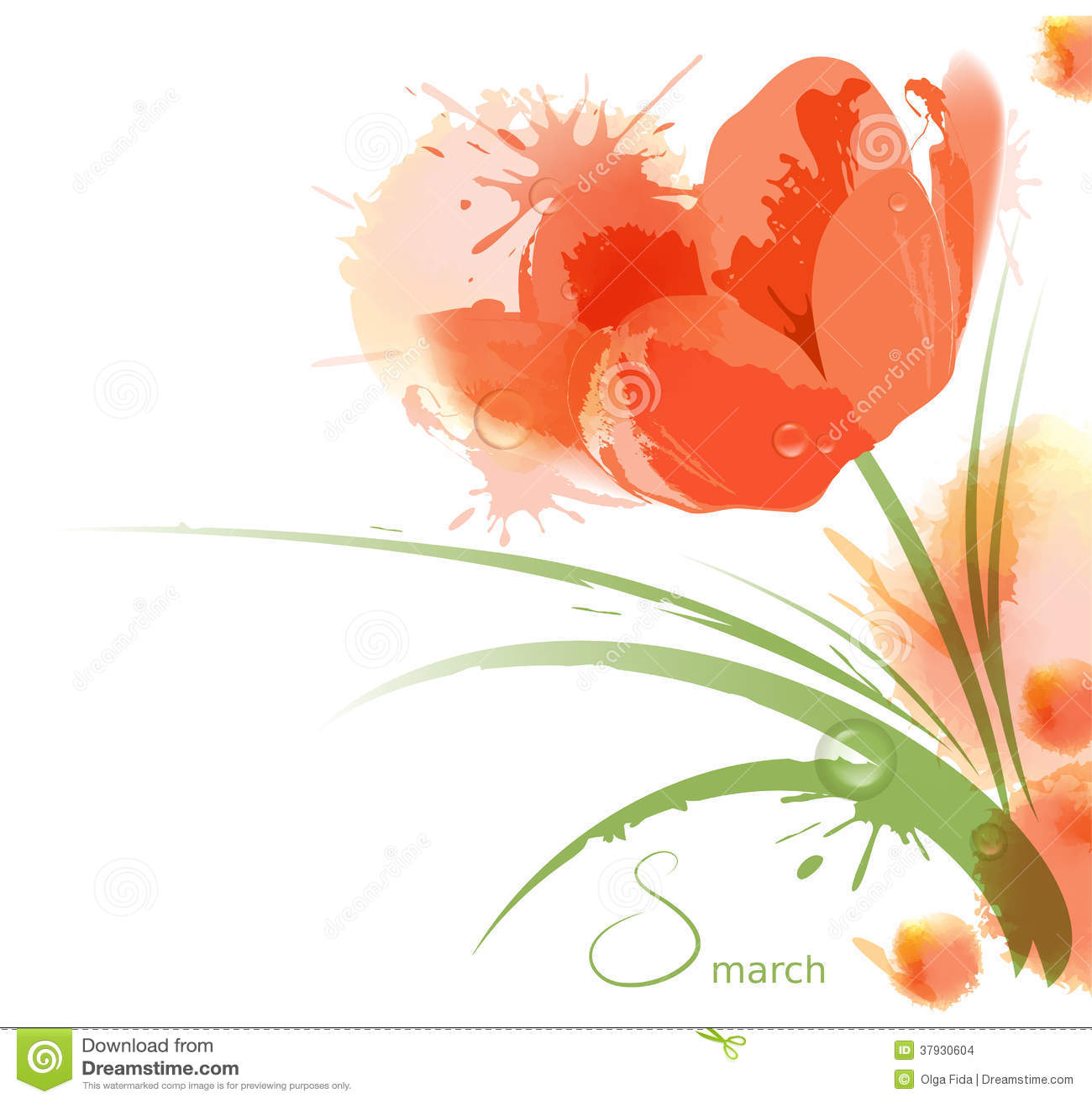 Предпосылка акварели цветка