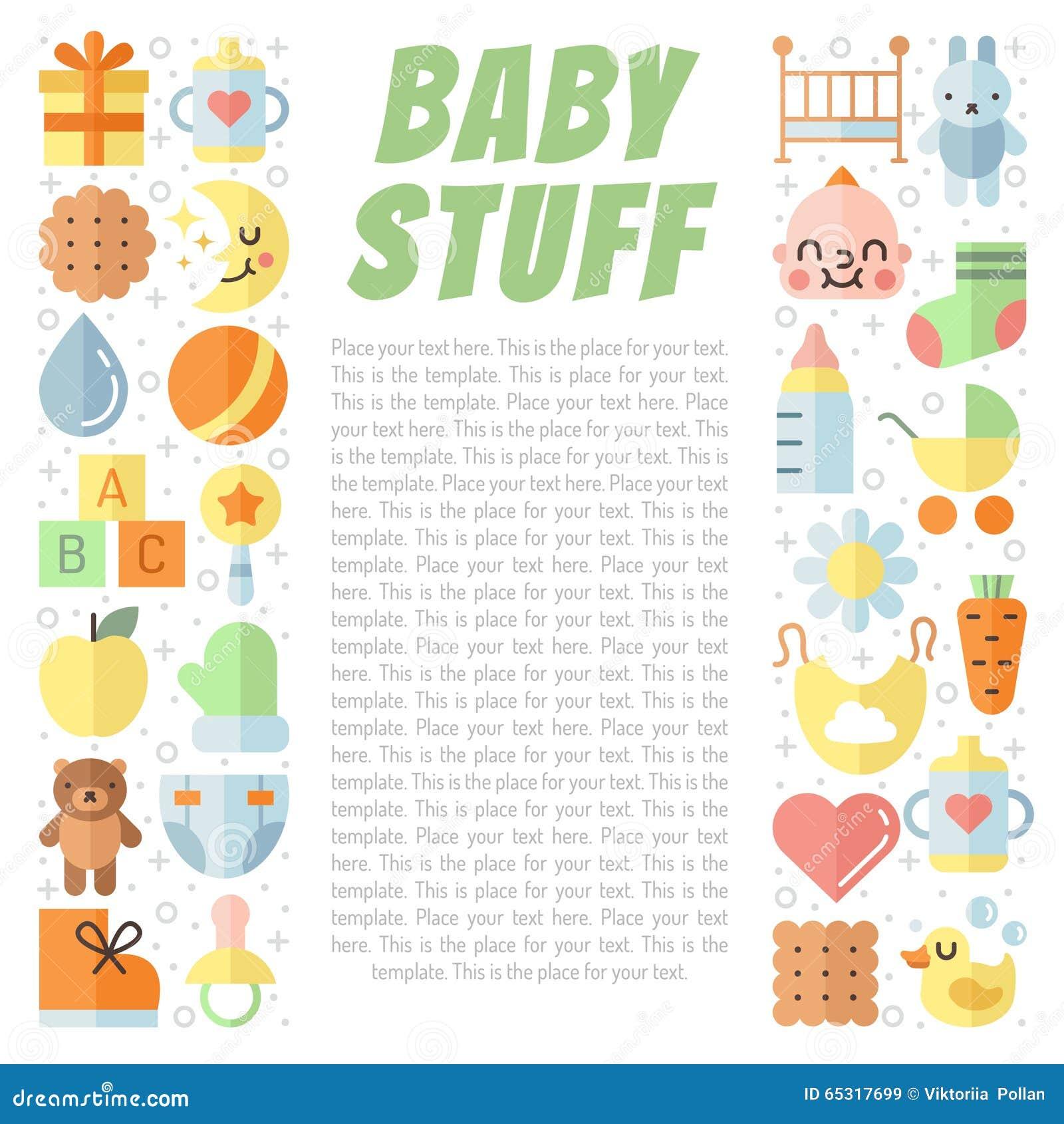 Предпосылка вектора вещества младенца (девушка и мальчик) плоско пестротканая милая с местом для вашего текста Дизайн Minimalisti
