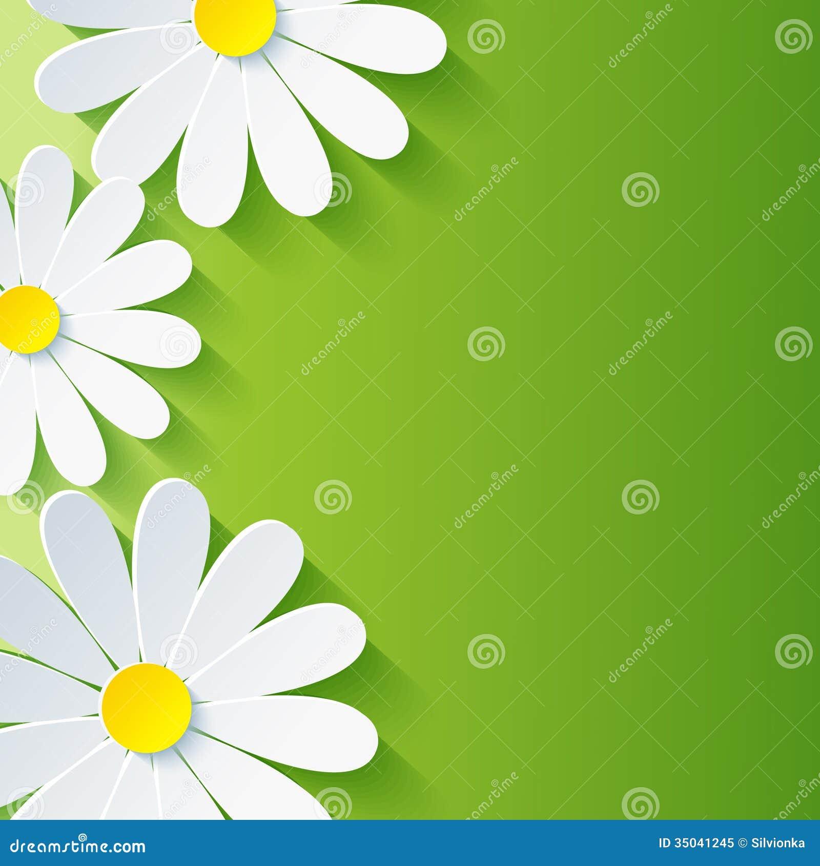 Предпосылка весны абстрактная флористическая, chamo цветка 3d