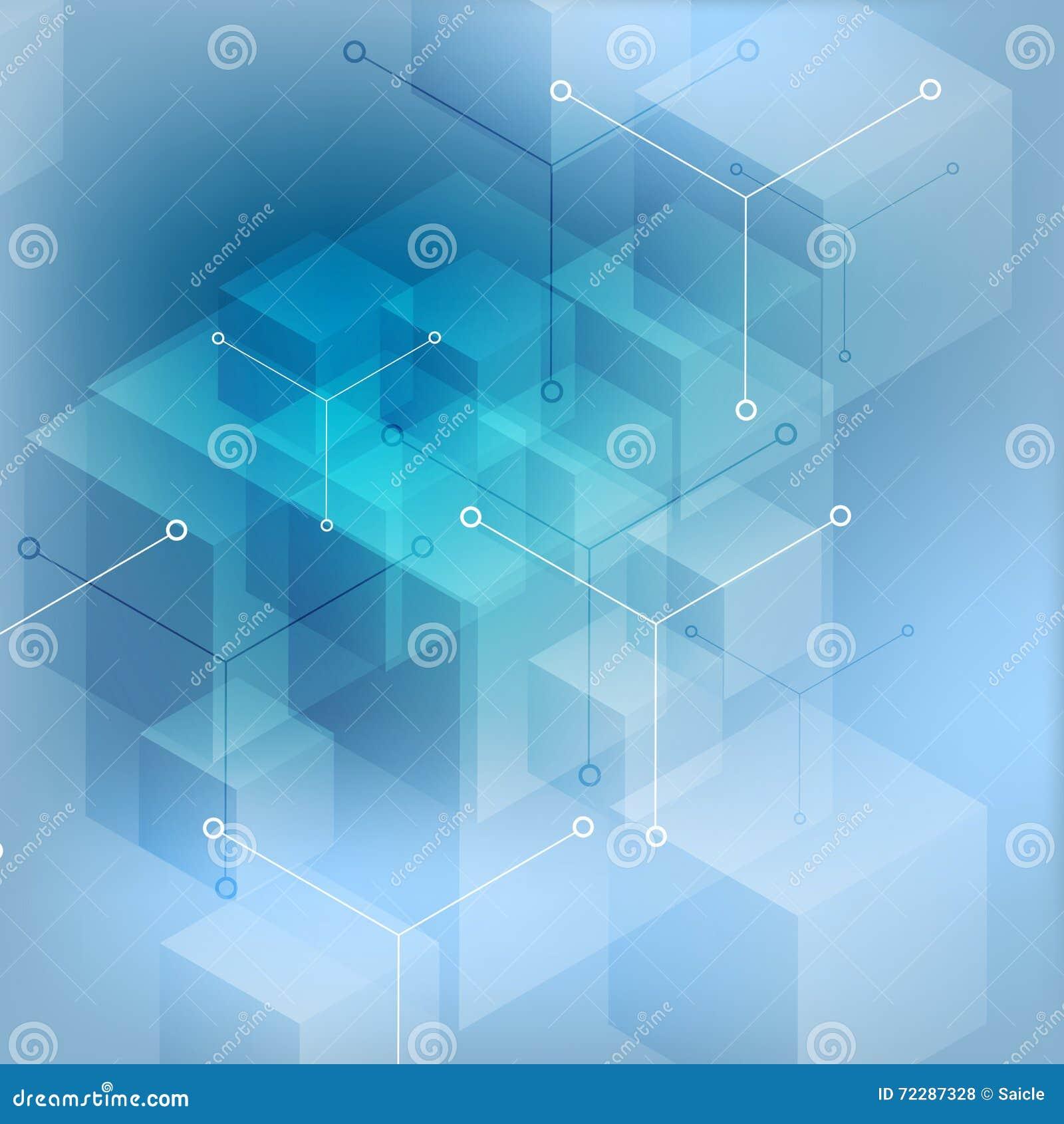 Download предпосылка Высок-техника абстрактная геометрическая голубая Иллюстрация вектора - иллюстрации насчитывающей цепь, цветасто: 72287328