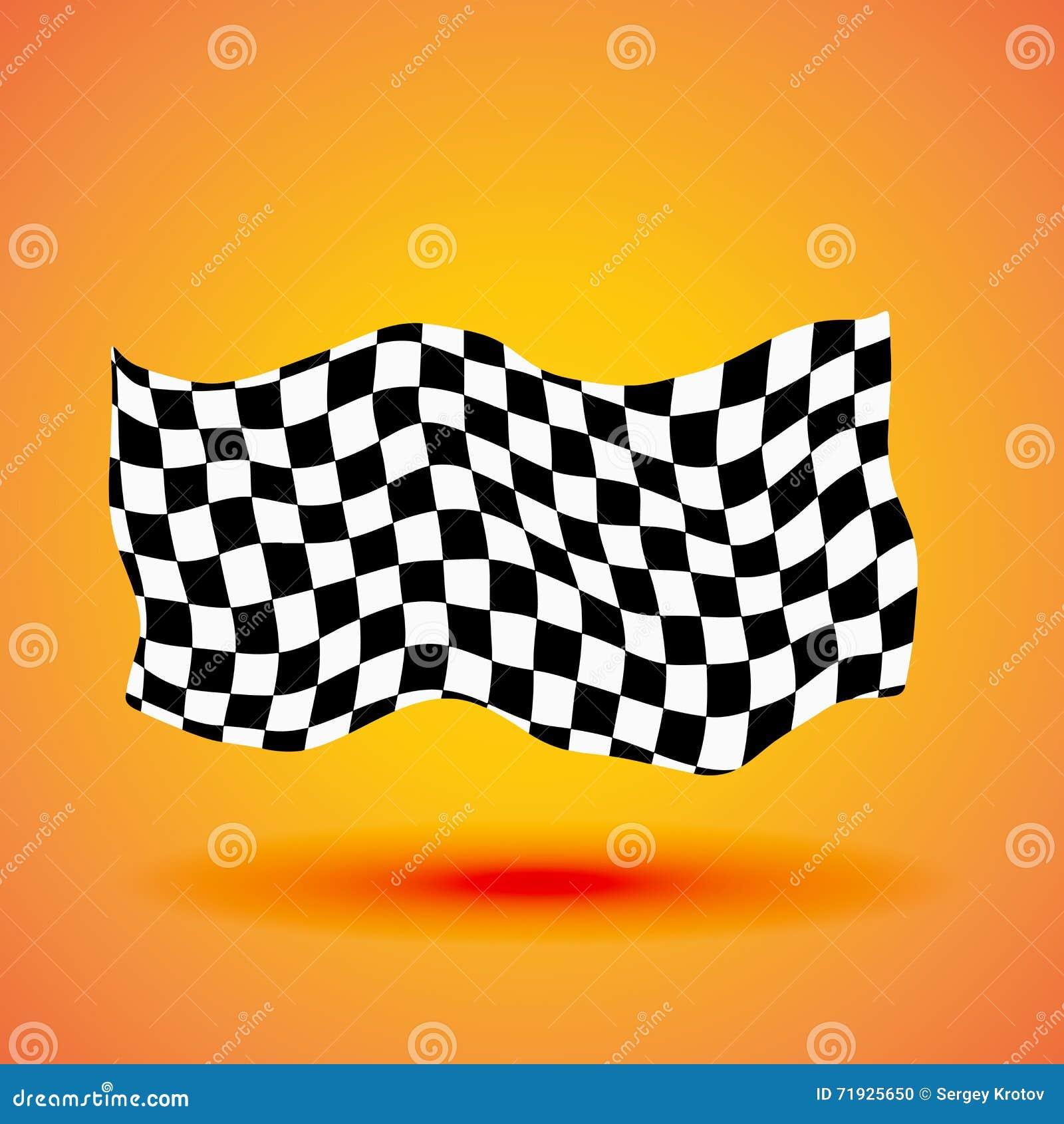 Предпосылка гонок с checkered иллюстрацией вектора флага