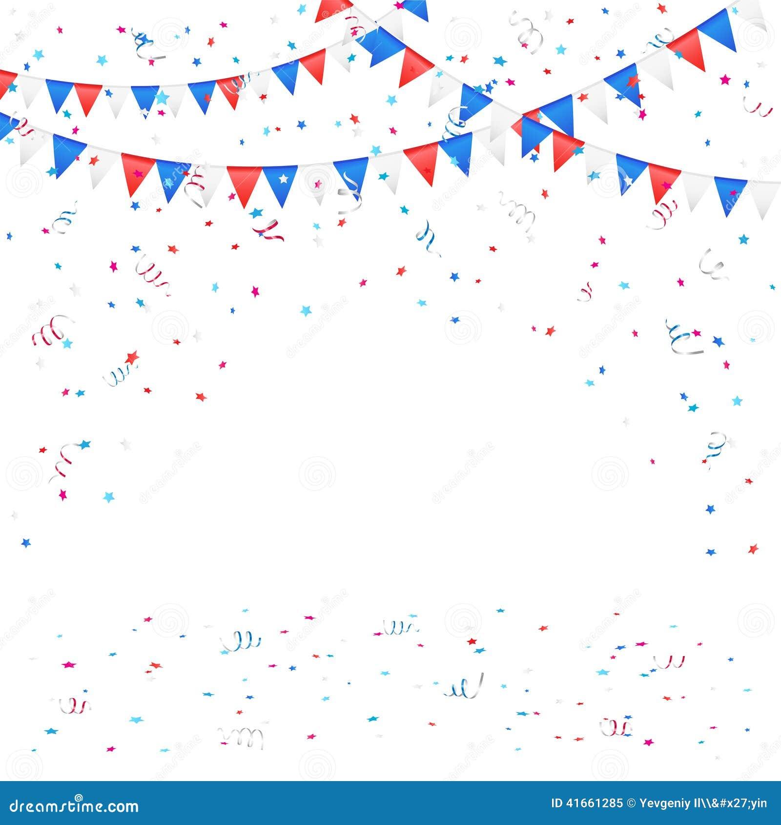 Предпосылка Дня независимости с confetti