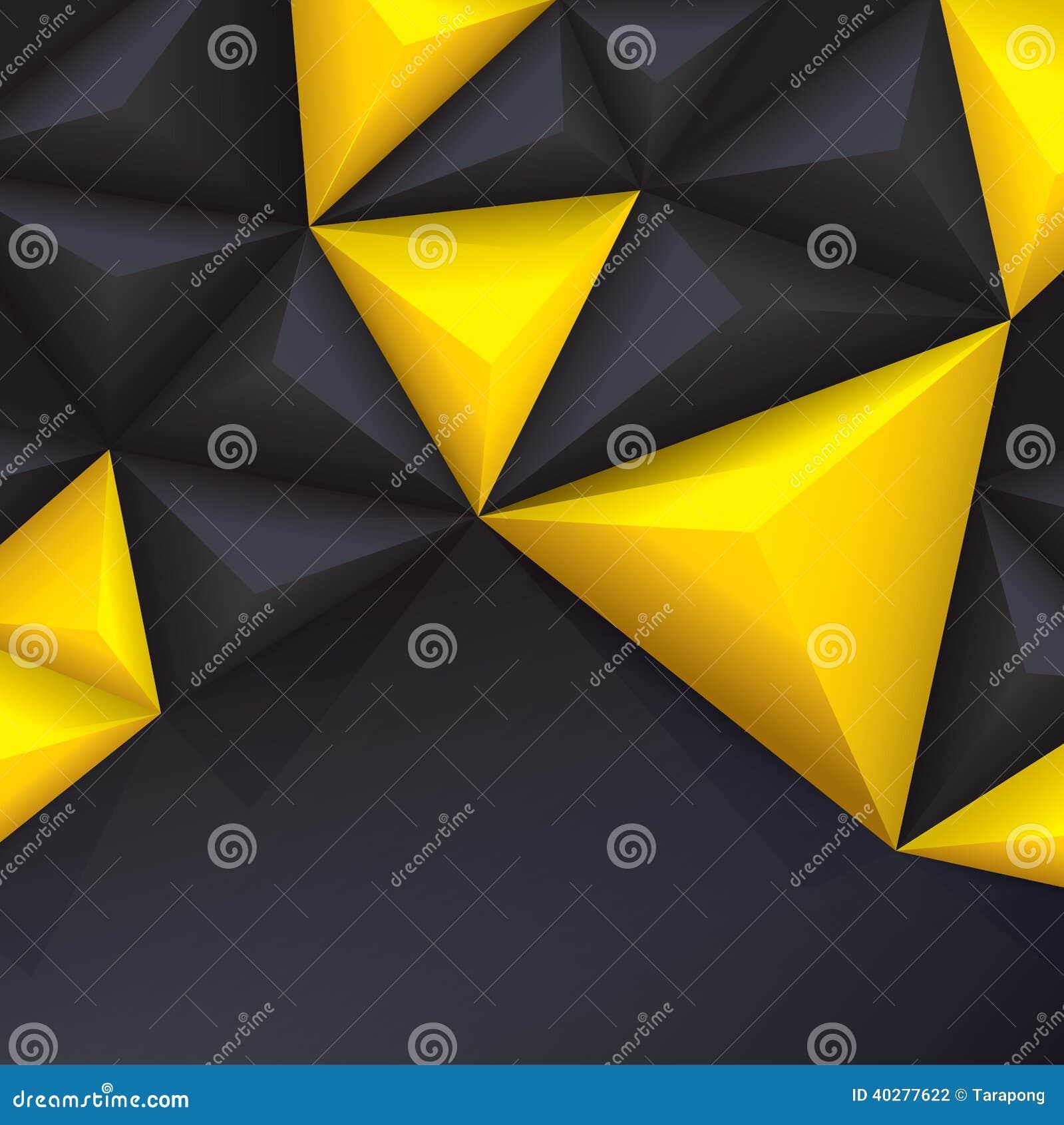 Предпосылка желтого и черного вектора геометрическая.