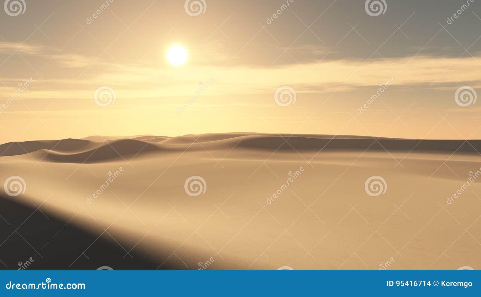 Предпосылка захода солнца пустыни