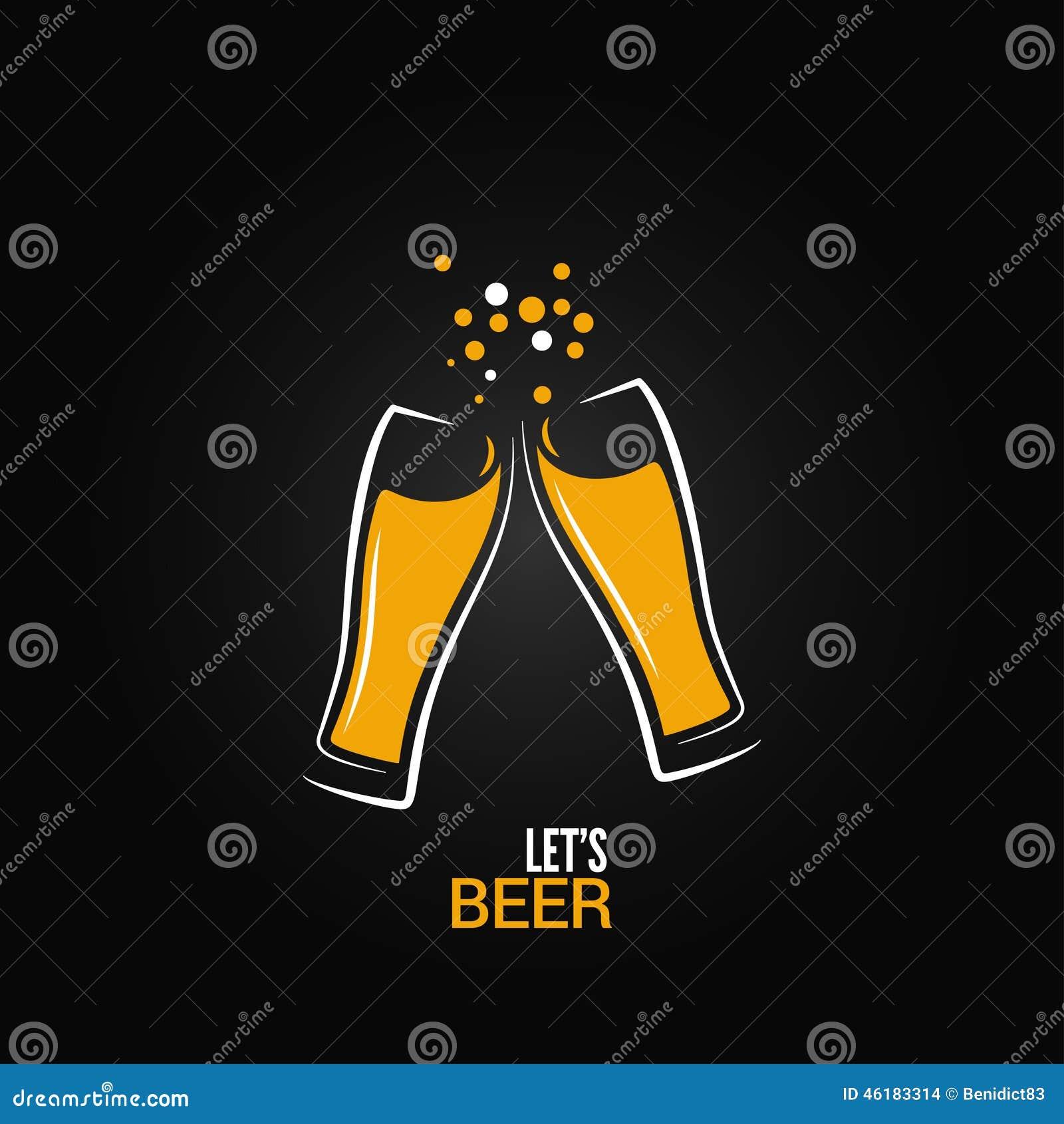 Предпосылка дизайна выплеска питья стекла пива